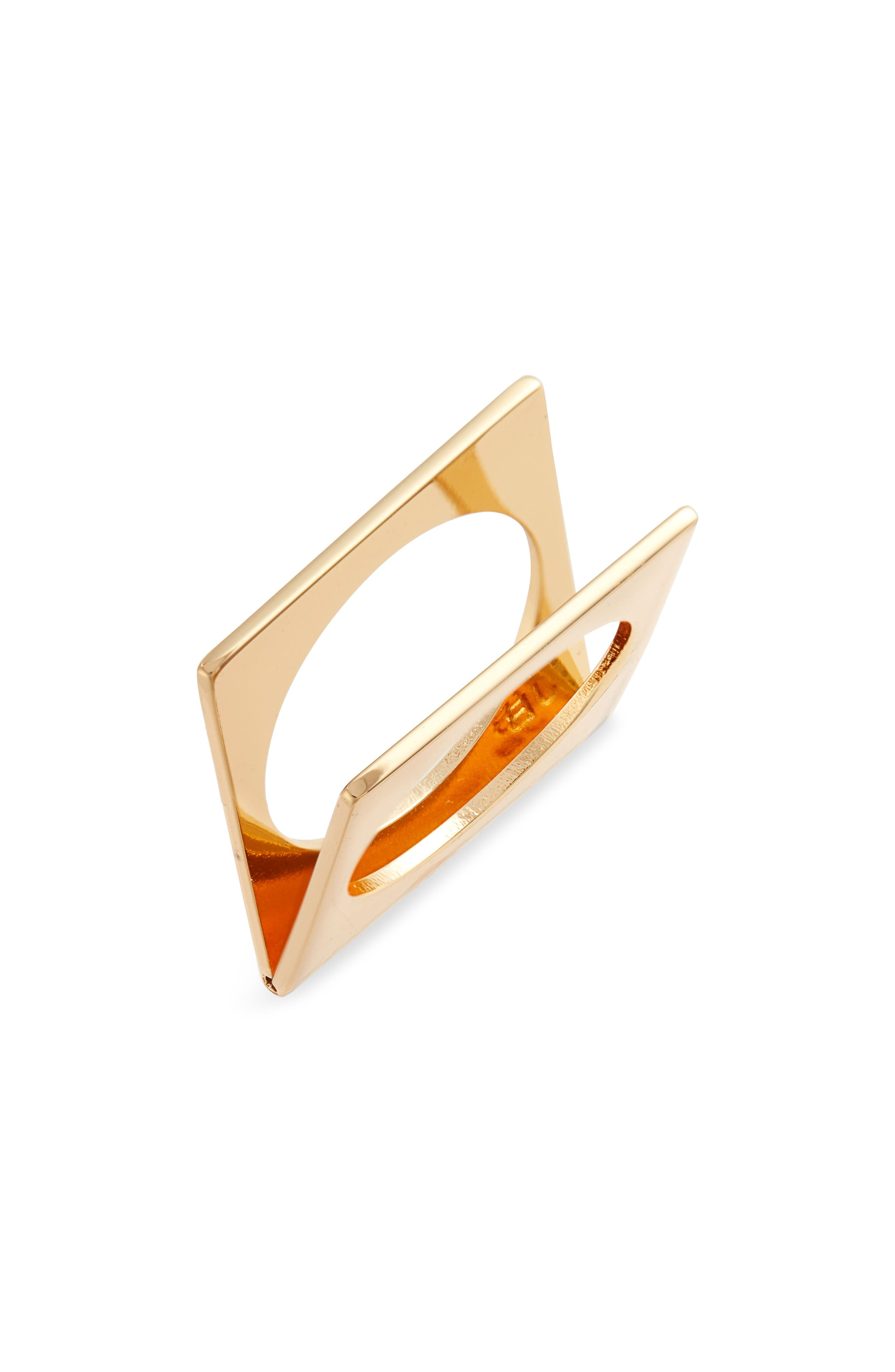 JENNY BIRD For The Love Square Ring in Gold