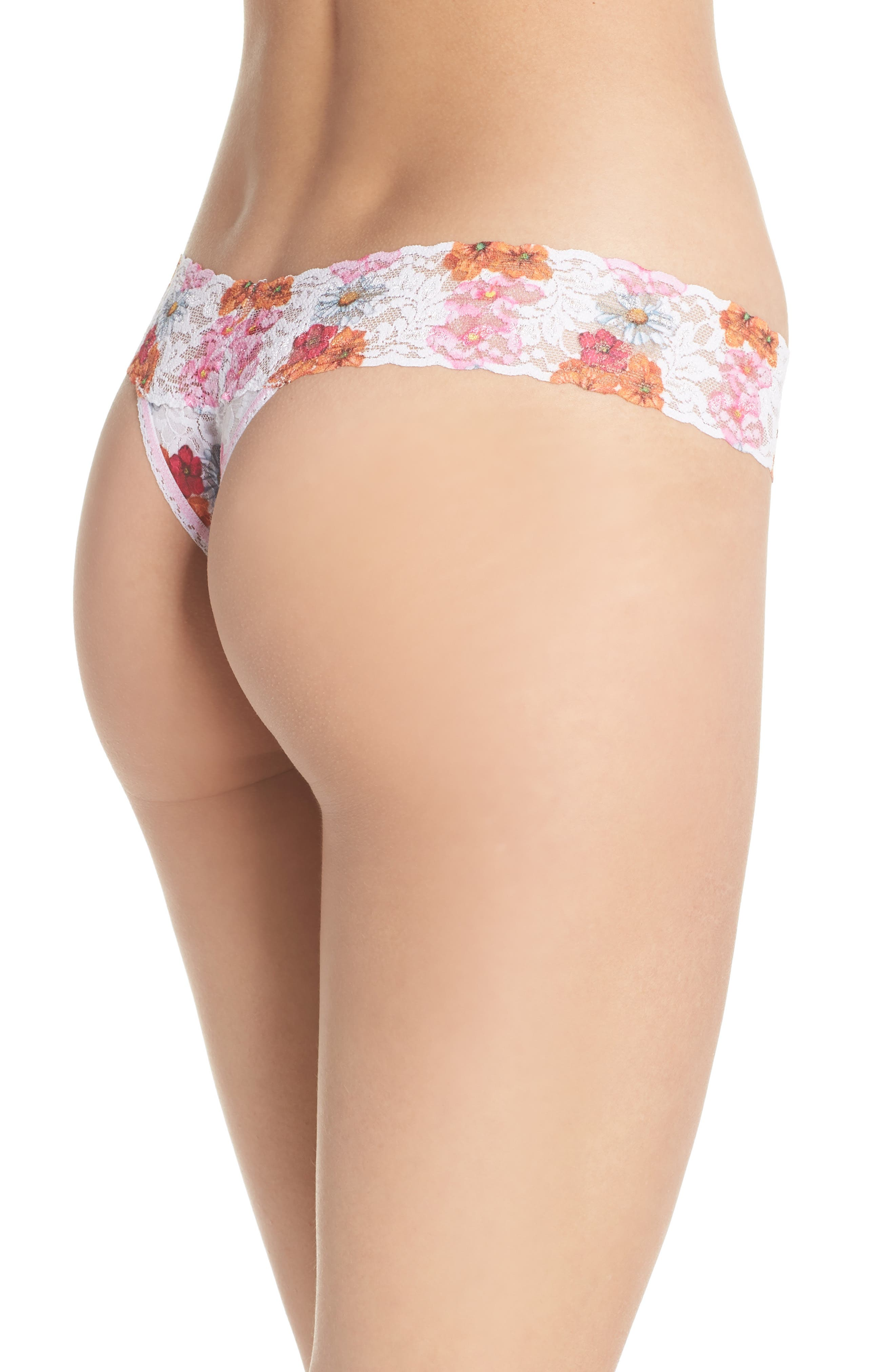 Print Low Rise Thong,                             Alternate thumbnail 34, color,