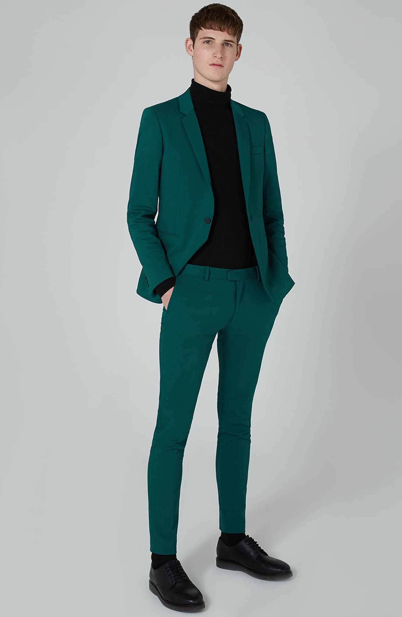 Skinny Fit Suit Trousers,                             Alternate thumbnail 5, color,