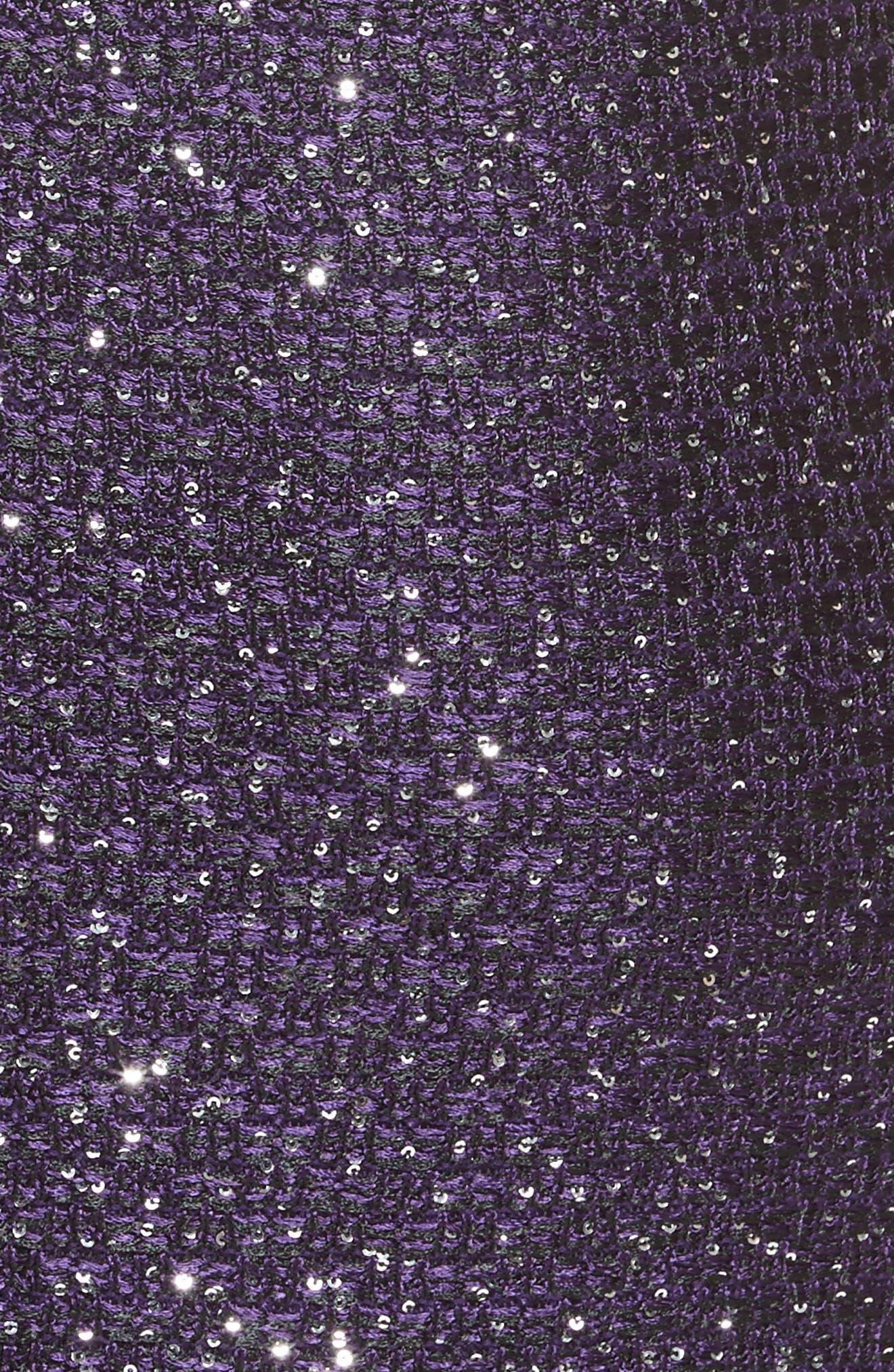 Hansh Sequin Knit Dress,                             Alternate thumbnail 5, color,                             500