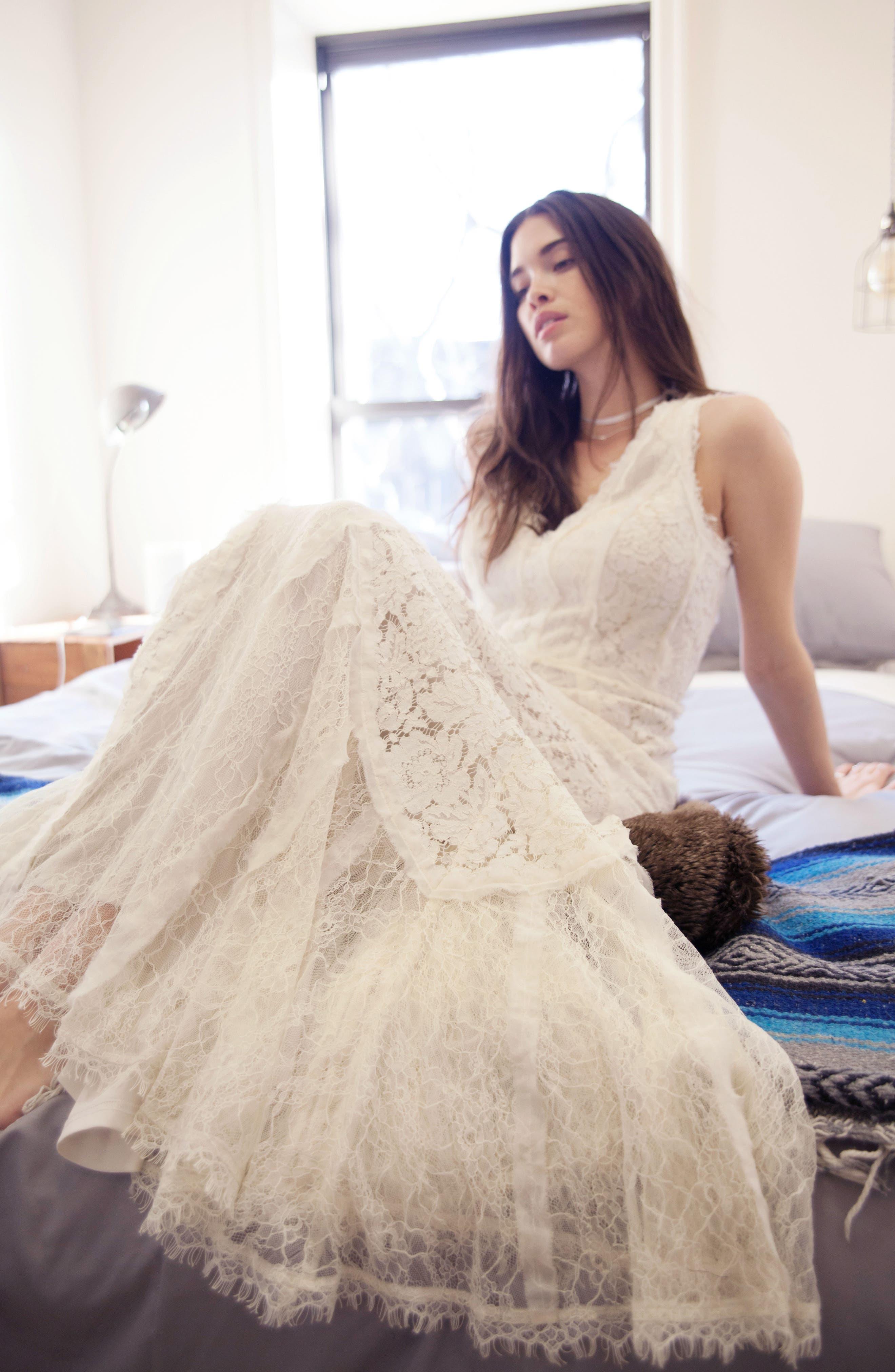 Felix Cutout Back Lace Fit & Flare Dress,                             Alternate thumbnail 5, color,                             101