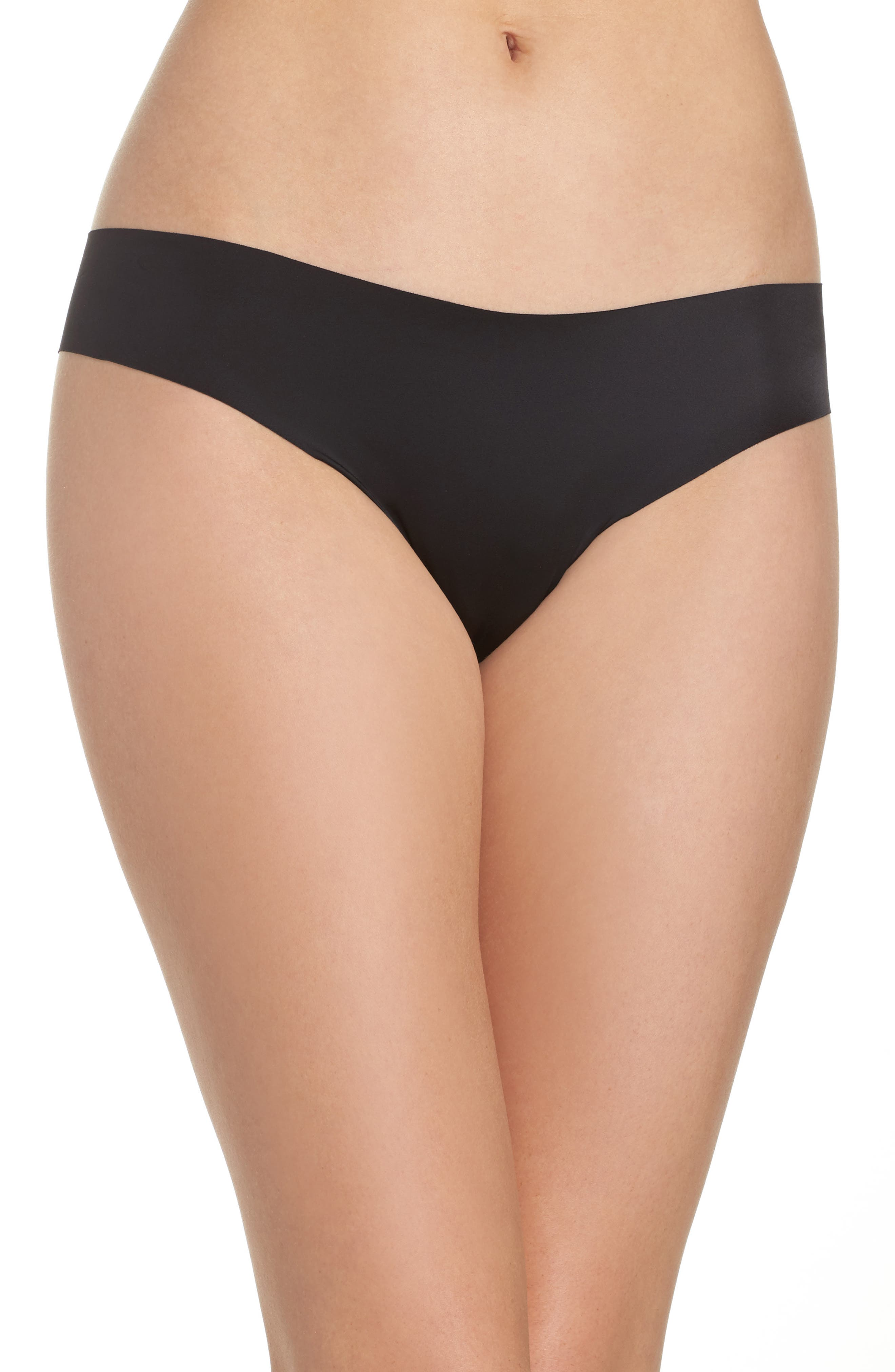 Luxe Satin Thong,                         Main,                         color, 001