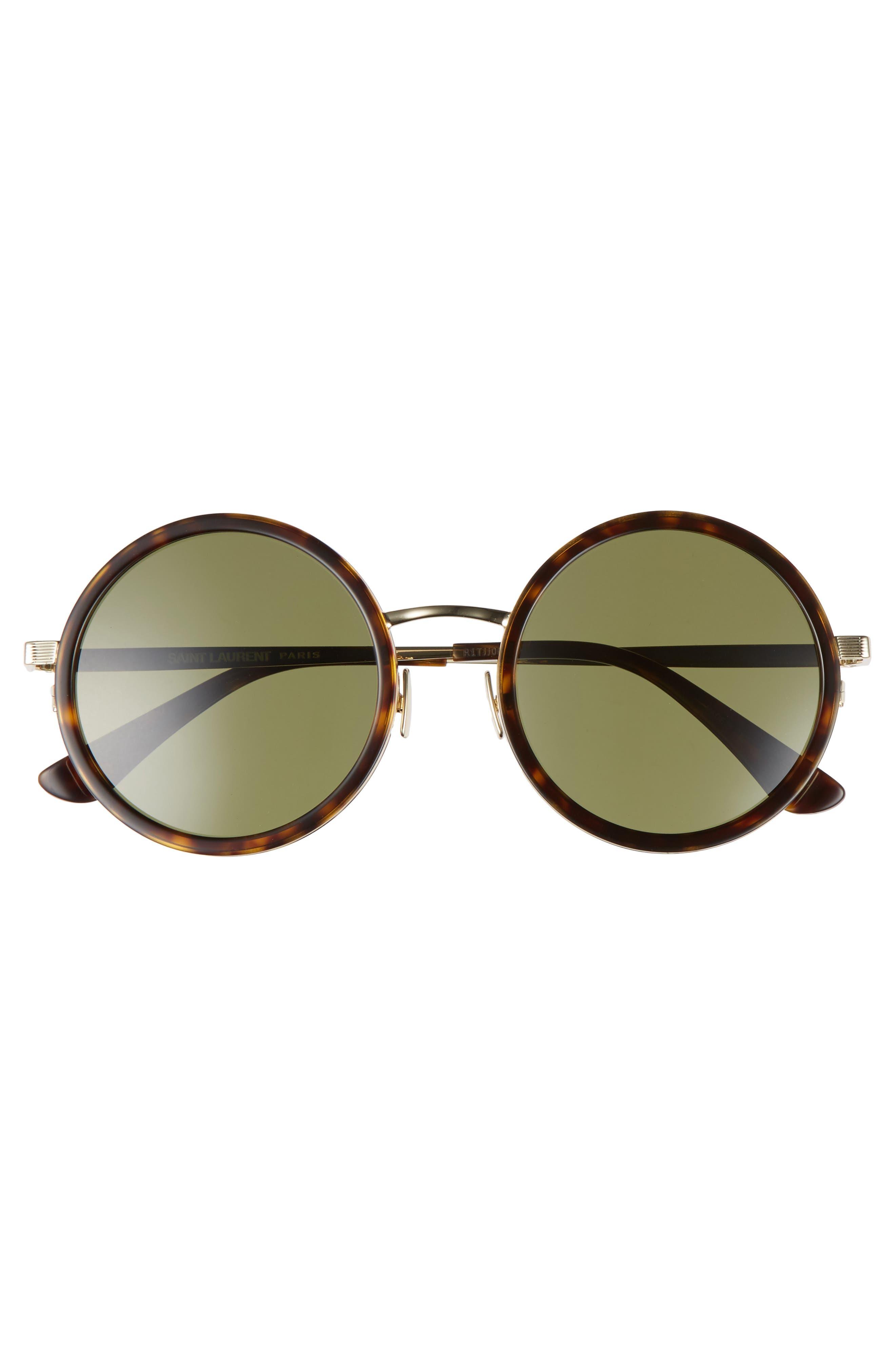 52mm Round Sunglasses,                             Alternate thumbnail 3, color,                             200