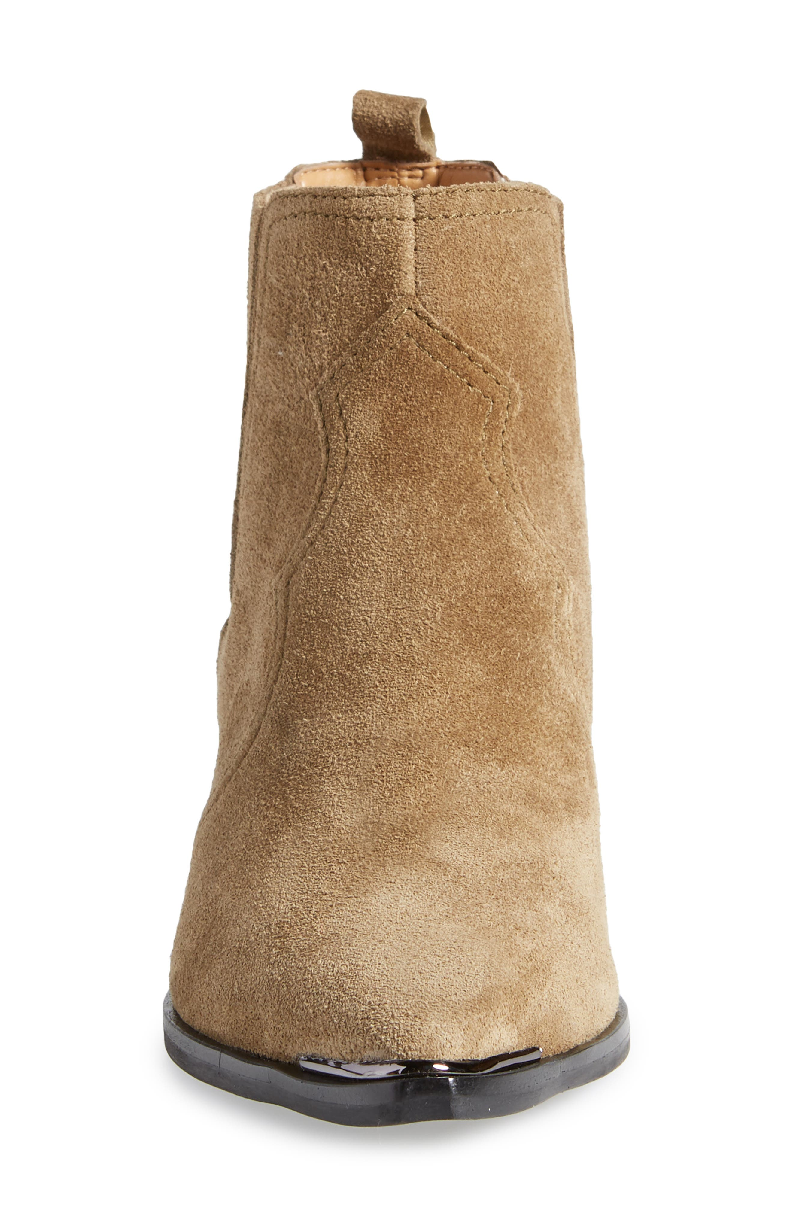 Yohani Bootie,                             Alternate thumbnail 4, color,                             TAUPE SUEDE