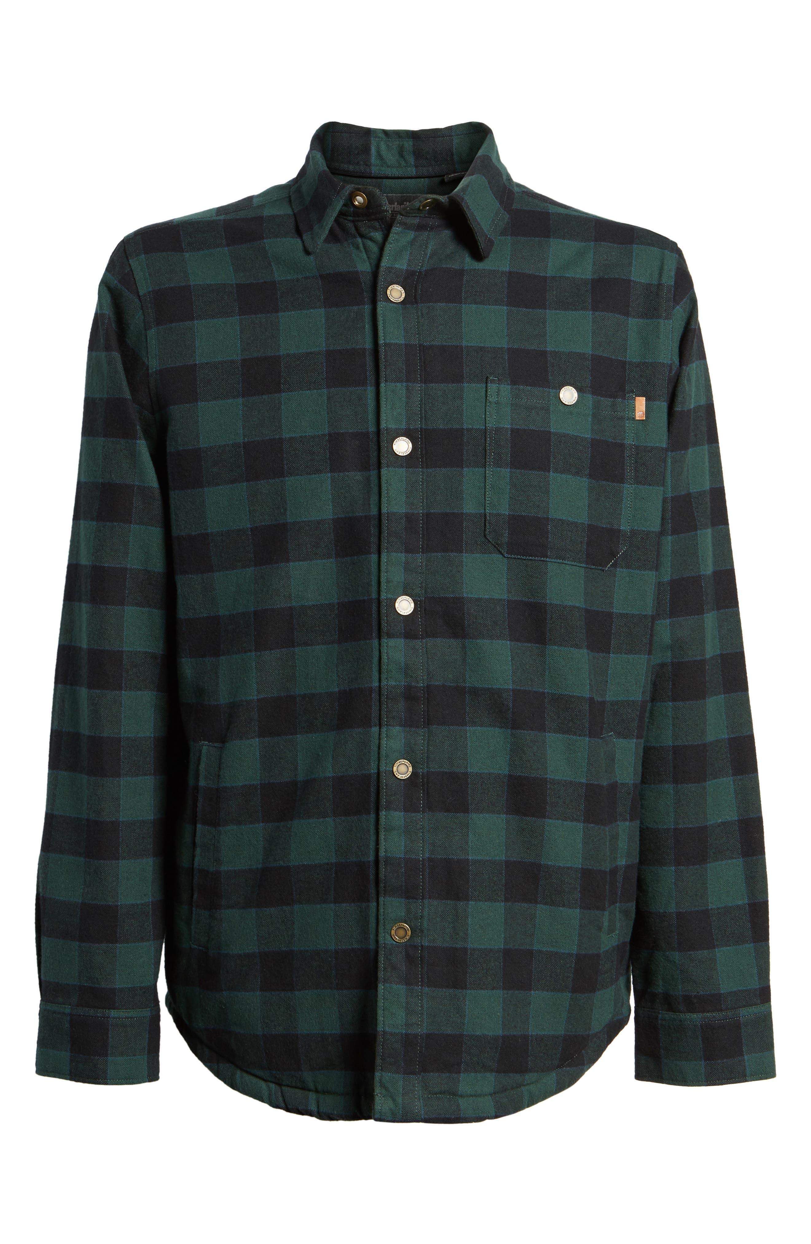 Check Shirt Jacket with Faux Shearling Lining,                             Alternate thumbnail 5, color,                             301