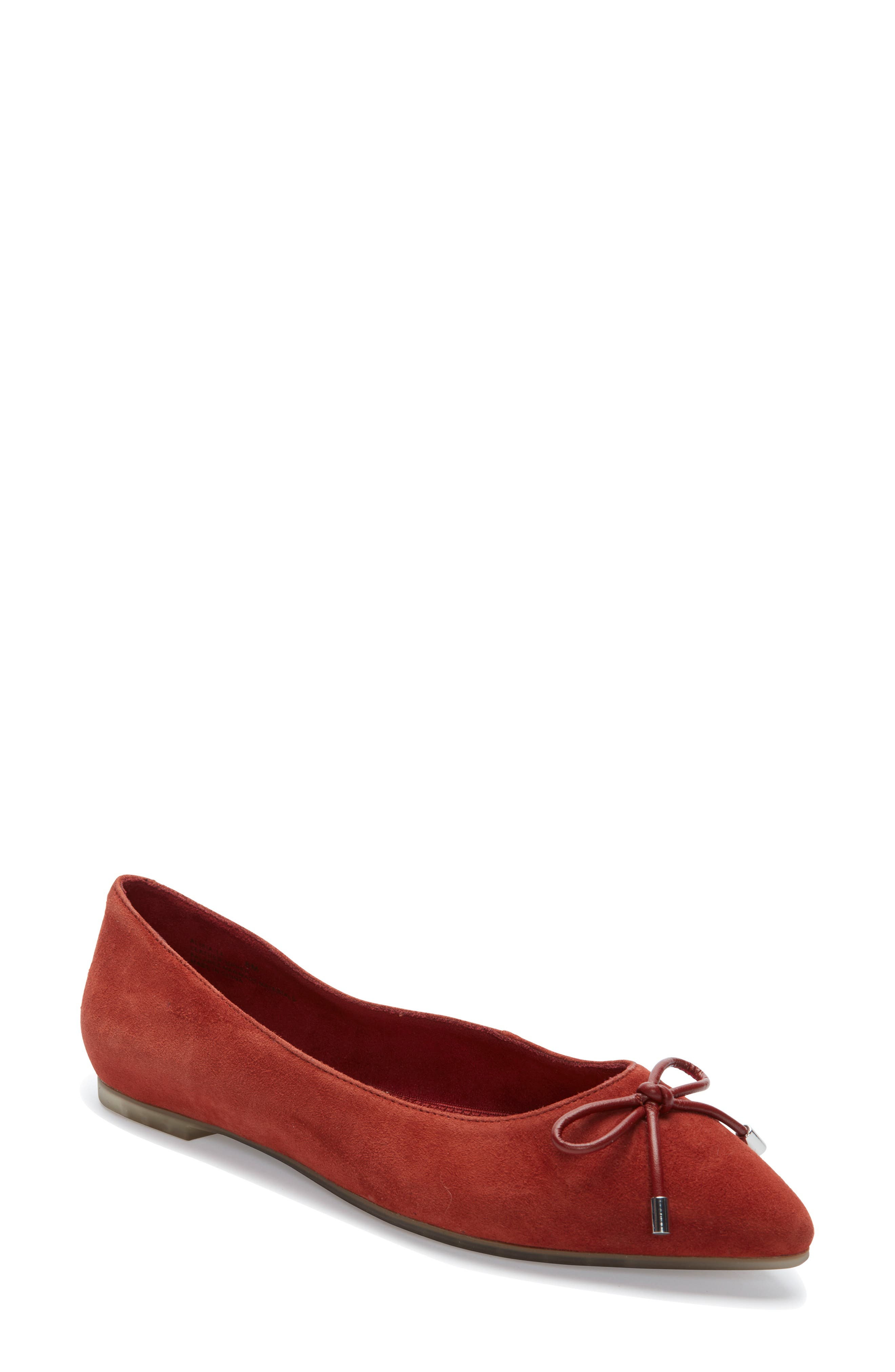 Me Too Alisia Pointy Toe Flat- Brown