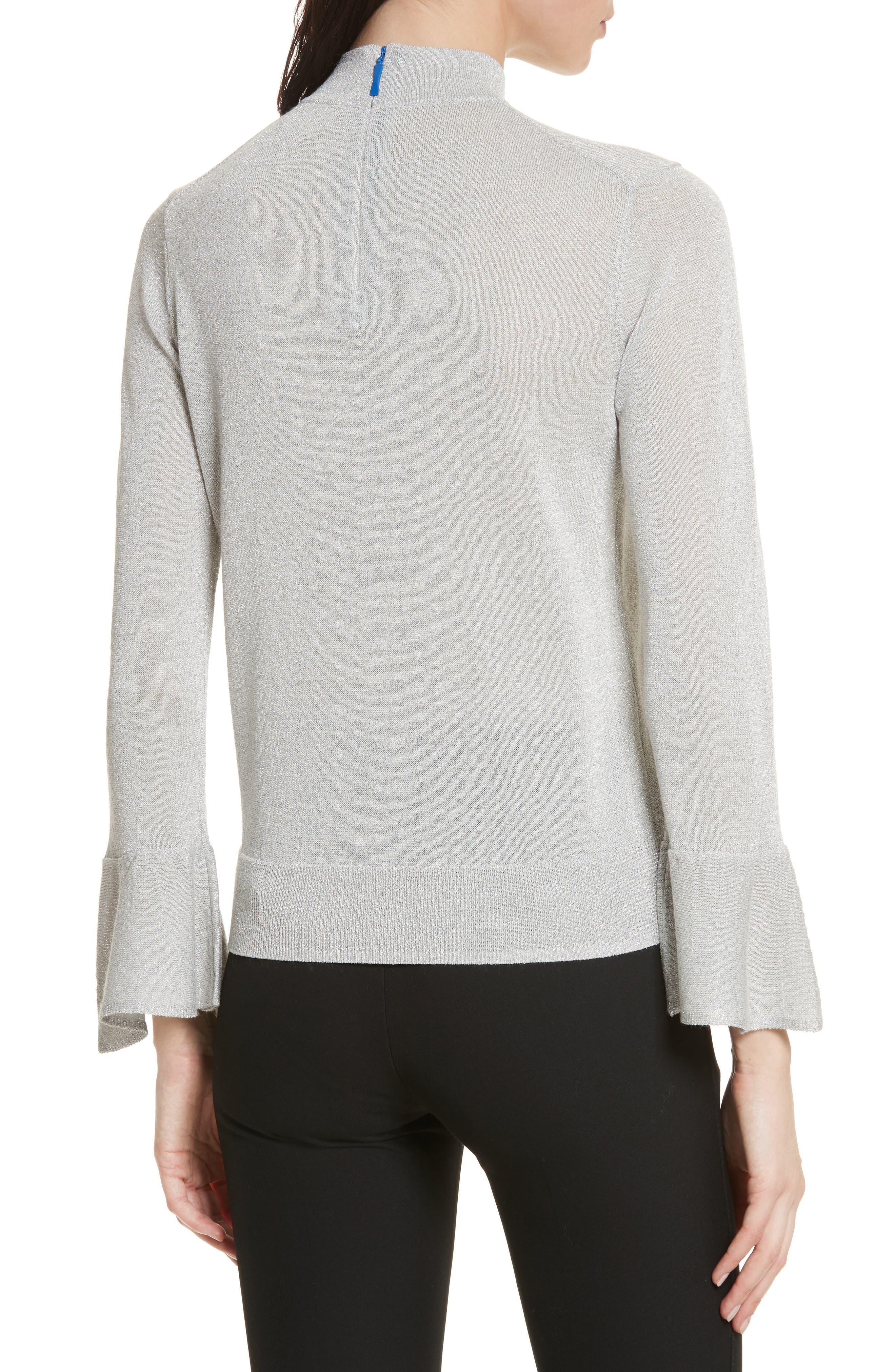 metallic knot sweater,                             Alternate thumbnail 2, color,                             044