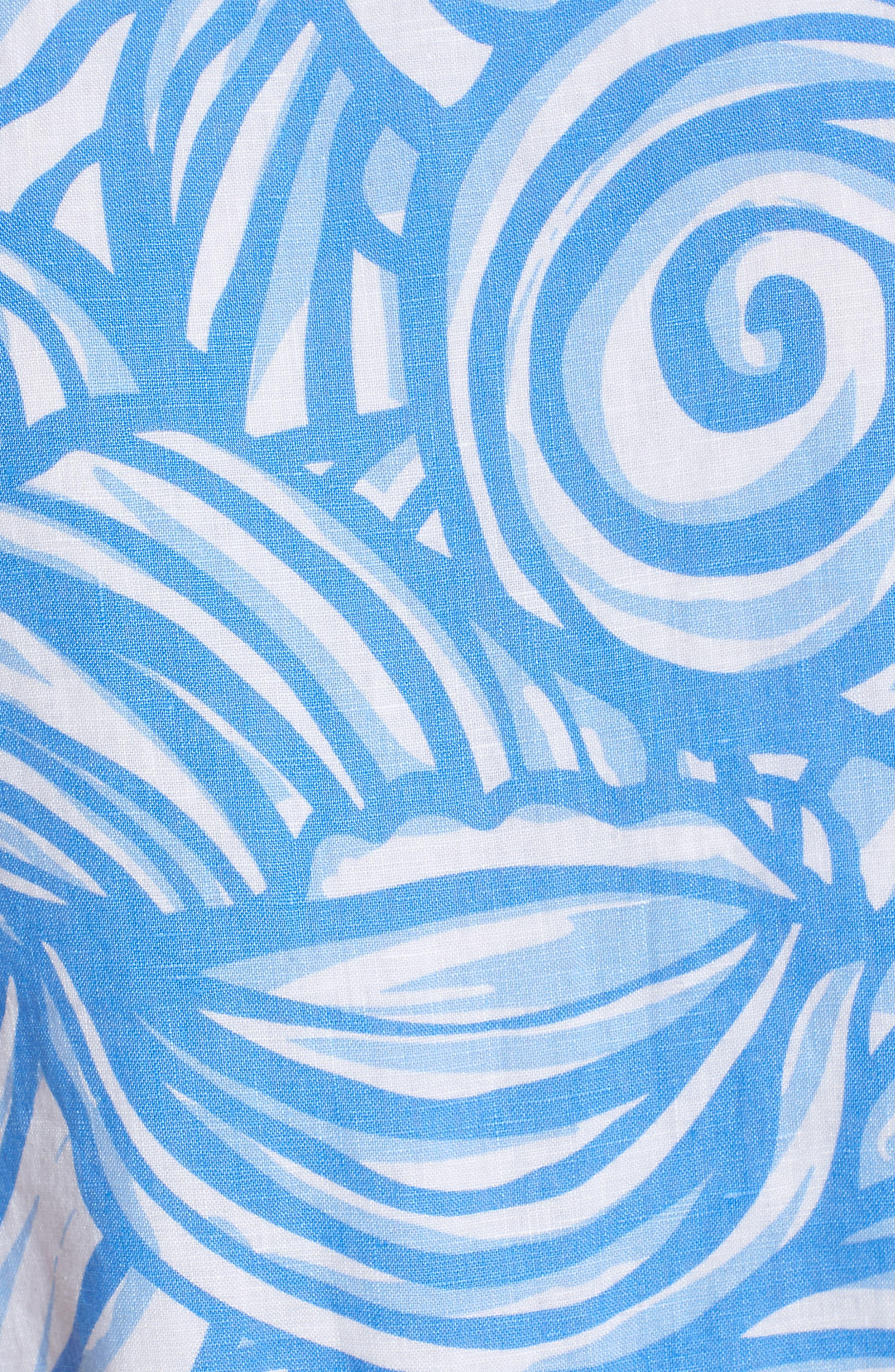 Nautilus Print Shift Dress,                             Alternate thumbnail 6, color,