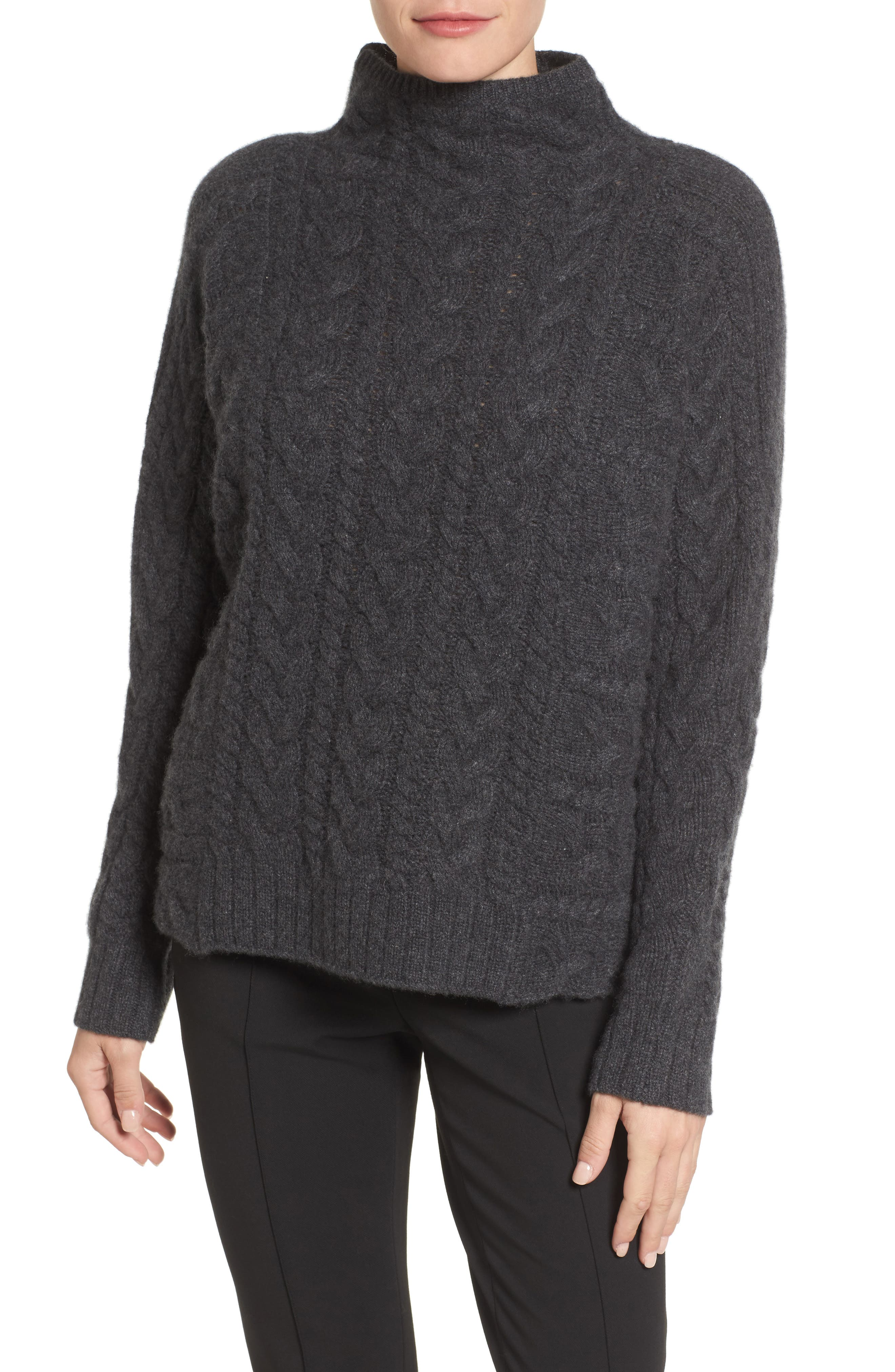 Cashmere Cable Sweater,                         Main,                         color, 021