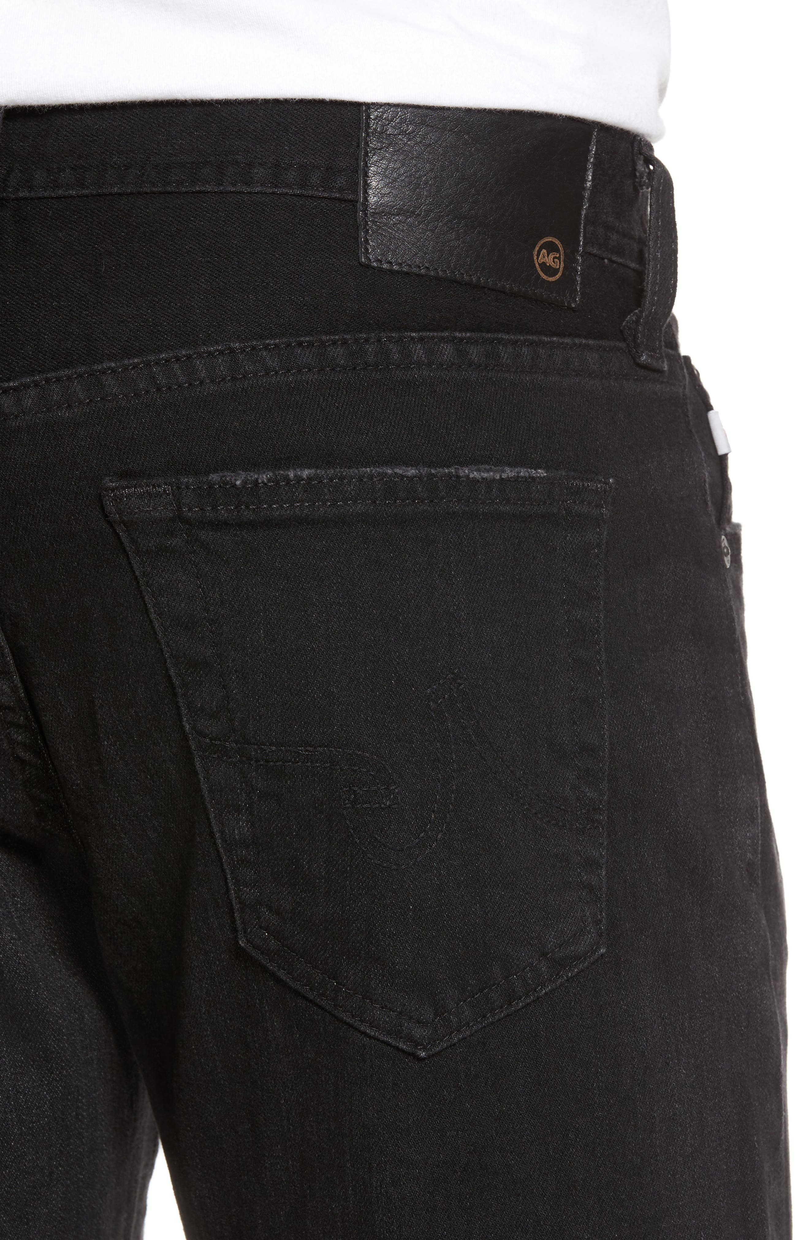 Graduate Slim Straight Fit Jeans,                             Alternate thumbnail 4, color,