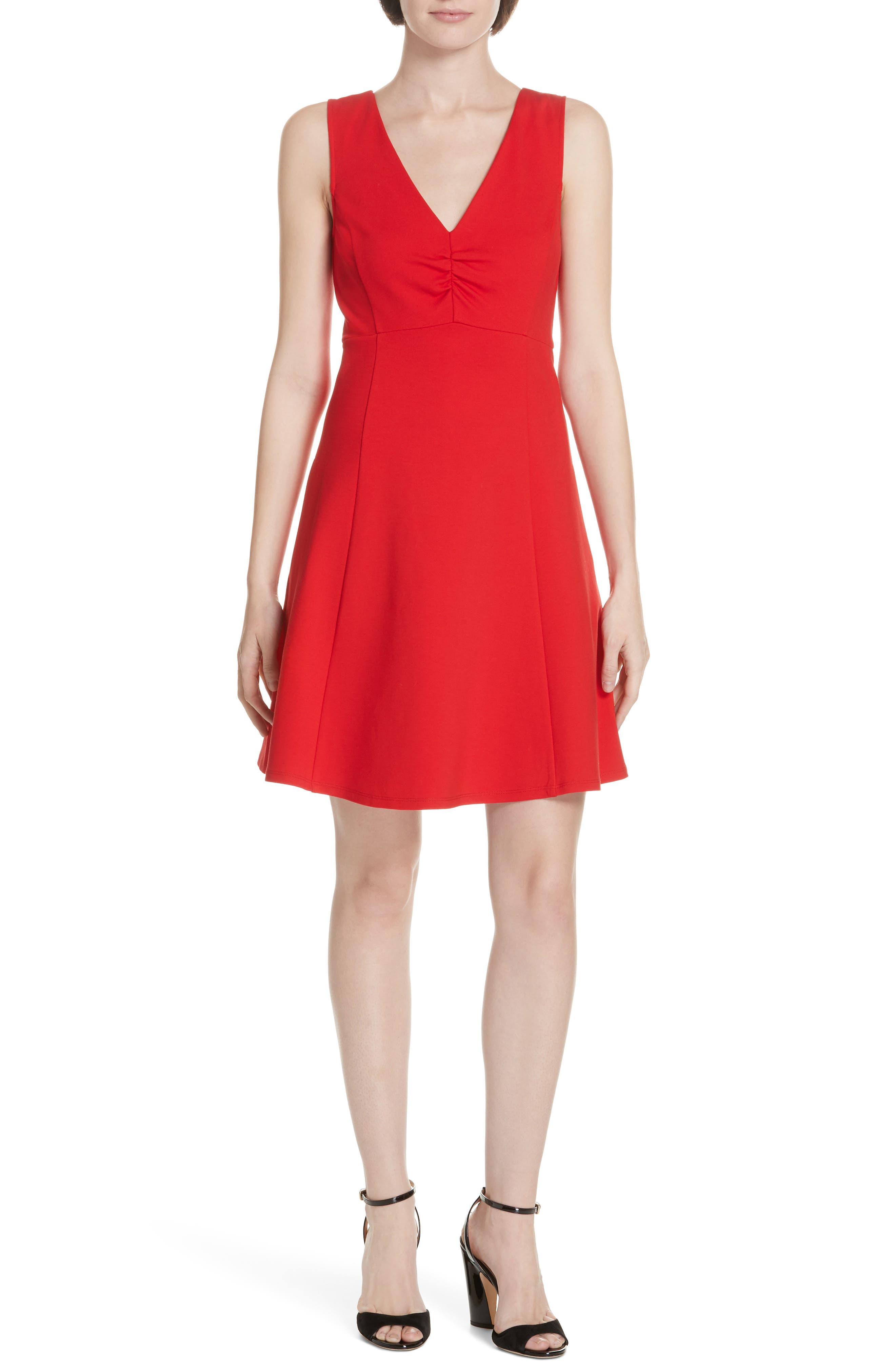 Kate Spade New York Ponte Fit & Flare Dress, Red