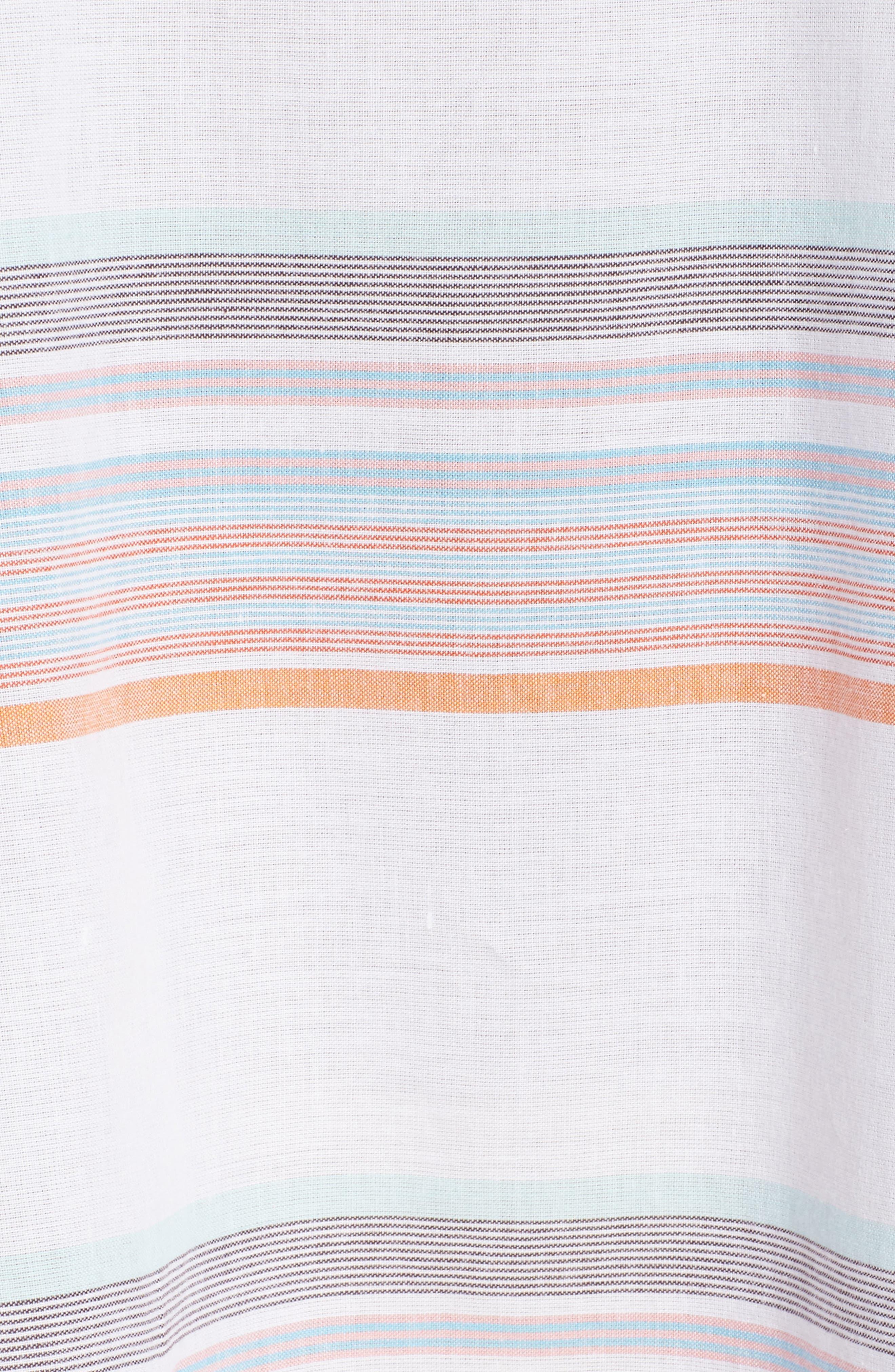 Sunset Stripe Cover-Up Dress,                             Alternate thumbnail 5, color,                             100