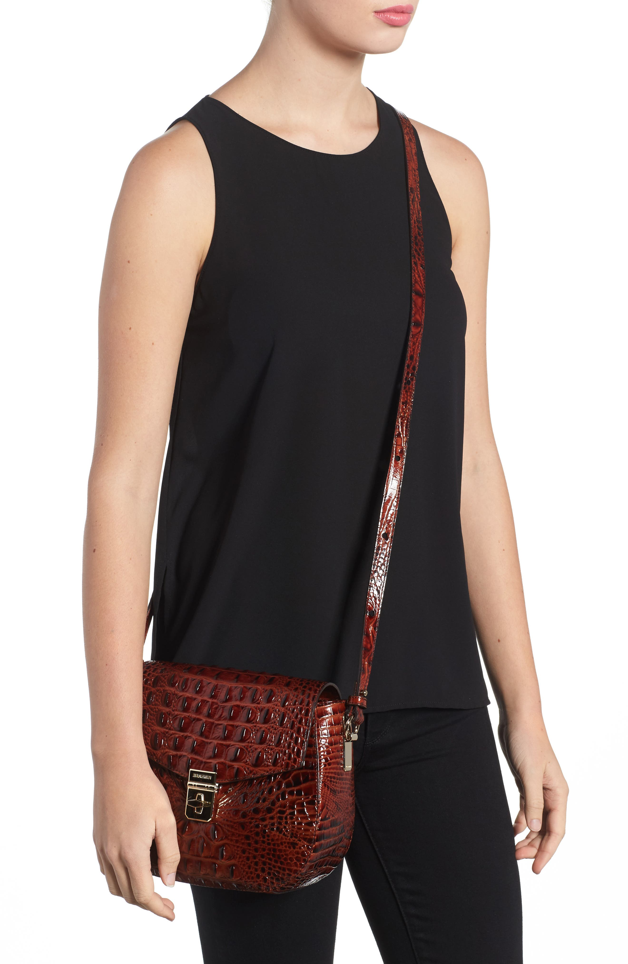 Melbourne - Lizzie Leather Crossbody Bag,                             Alternate thumbnail 7, color,