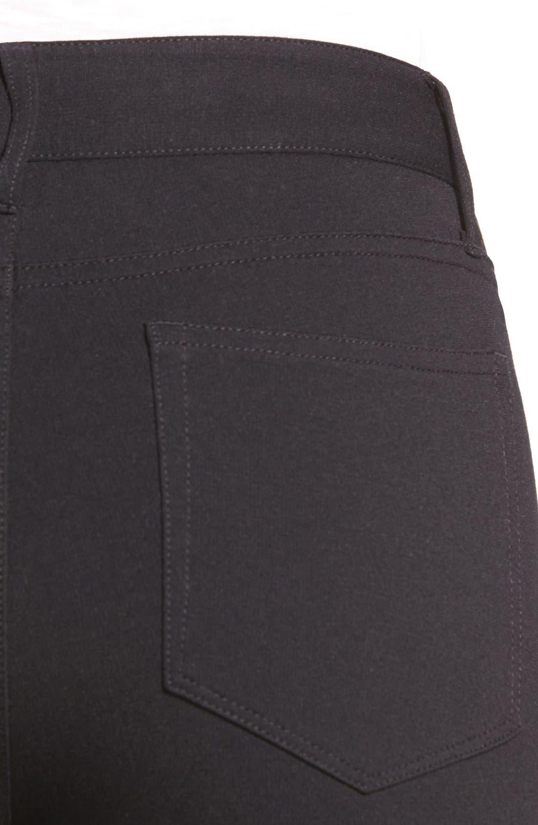 Hoxton Ankle Ponte Pants,                             Alternate thumbnail 3, color,                             001