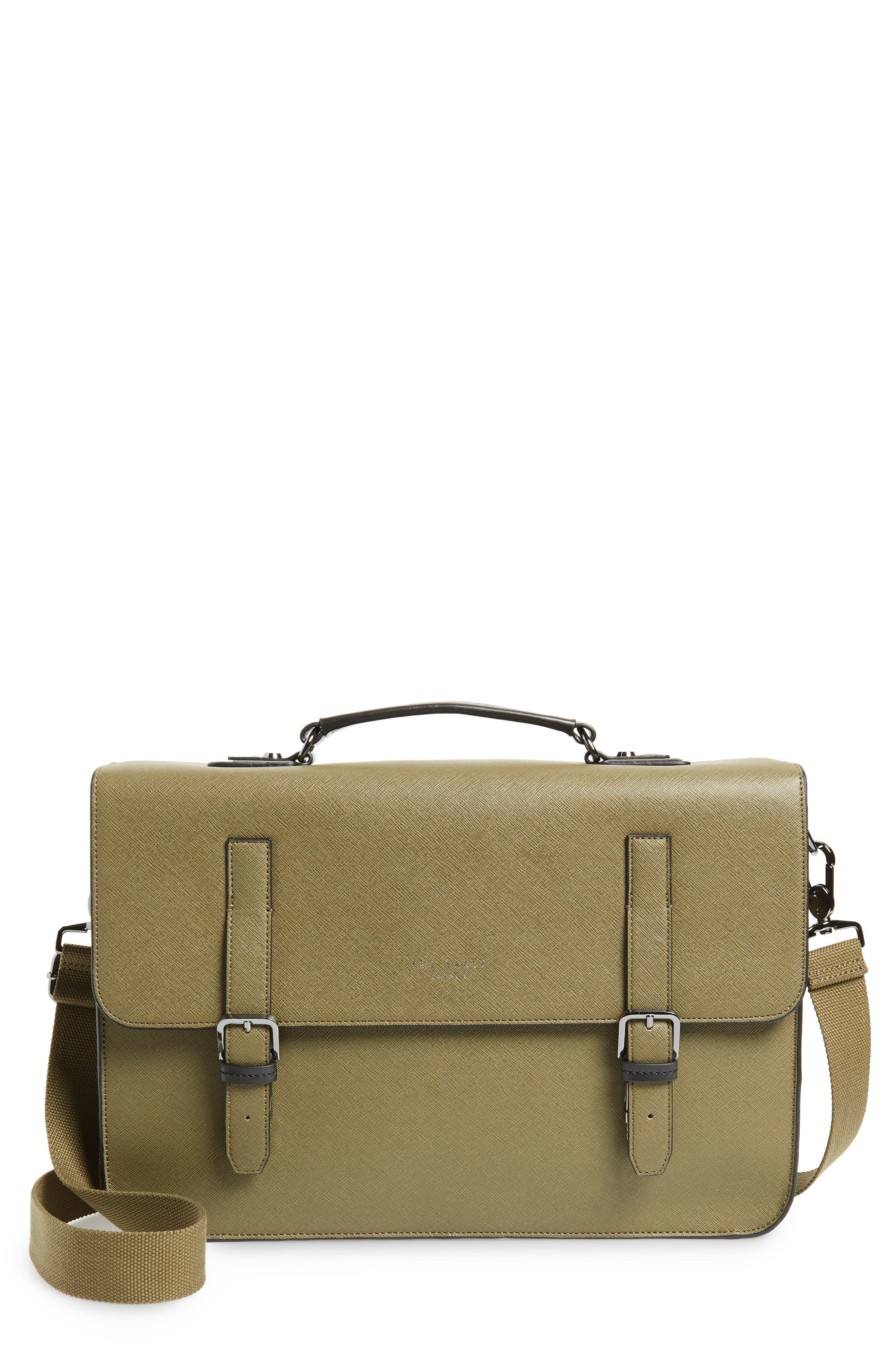 Country Crossgrain Messenger Bag,                             Main thumbnail 1, color,                             OLIVE