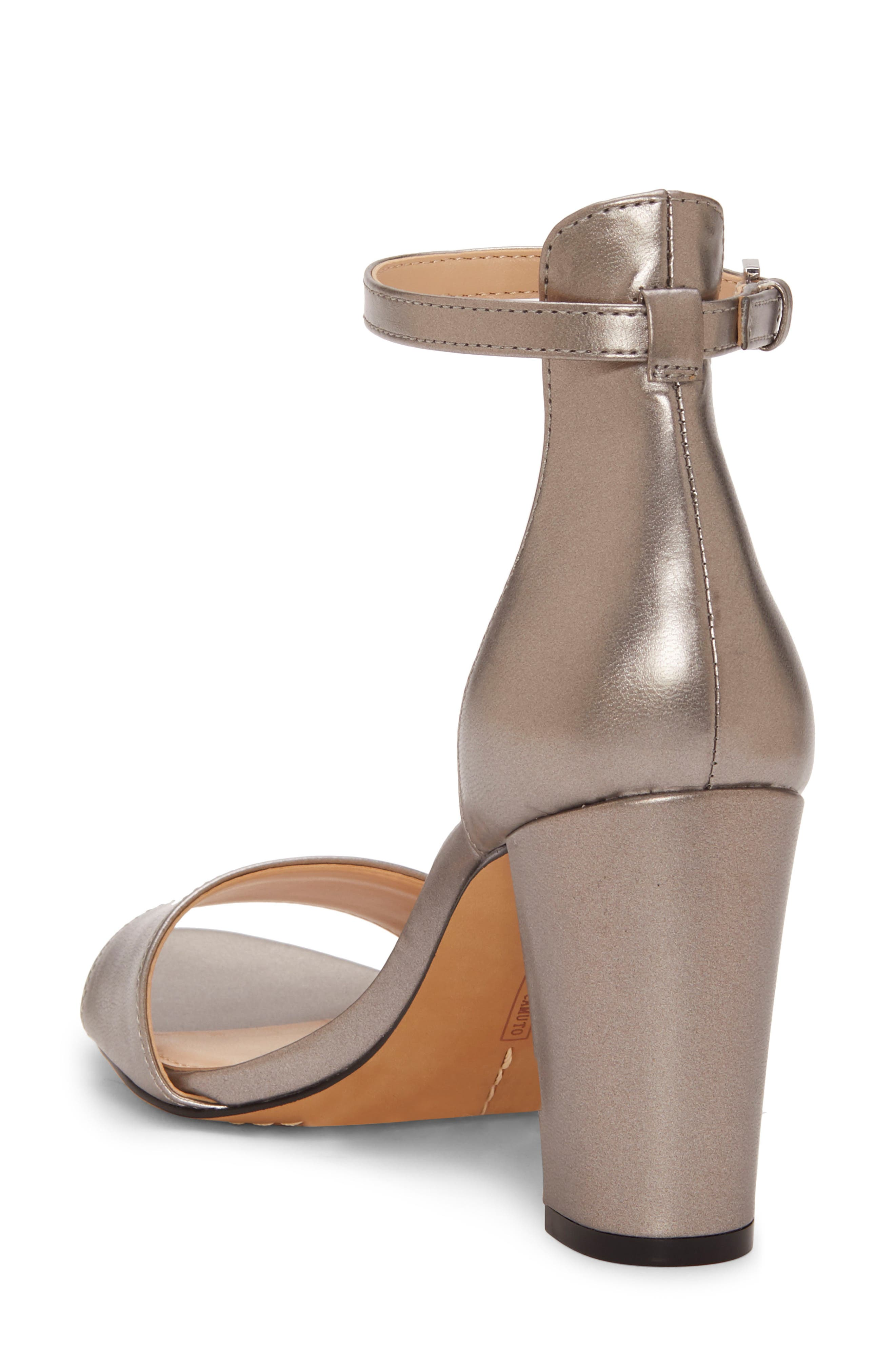 VINCE CAMUTO,                             Corlina Ankle Strap Sandal,                             Alternate thumbnail 2, color,                             METAL GREY