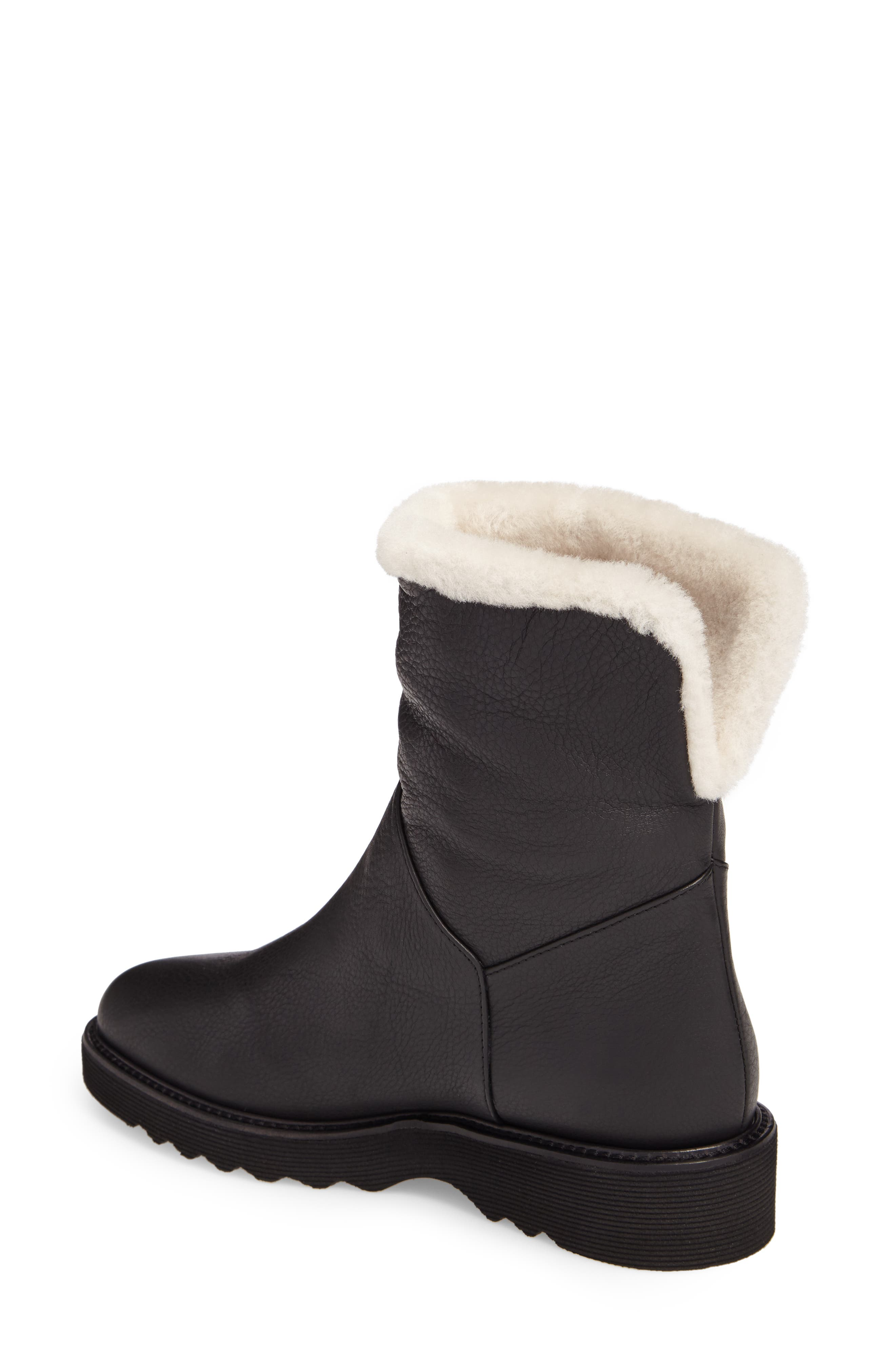 Kimberly Weatherproof Genuine Shearling Bootie,                             Alternate thumbnail 6, color,