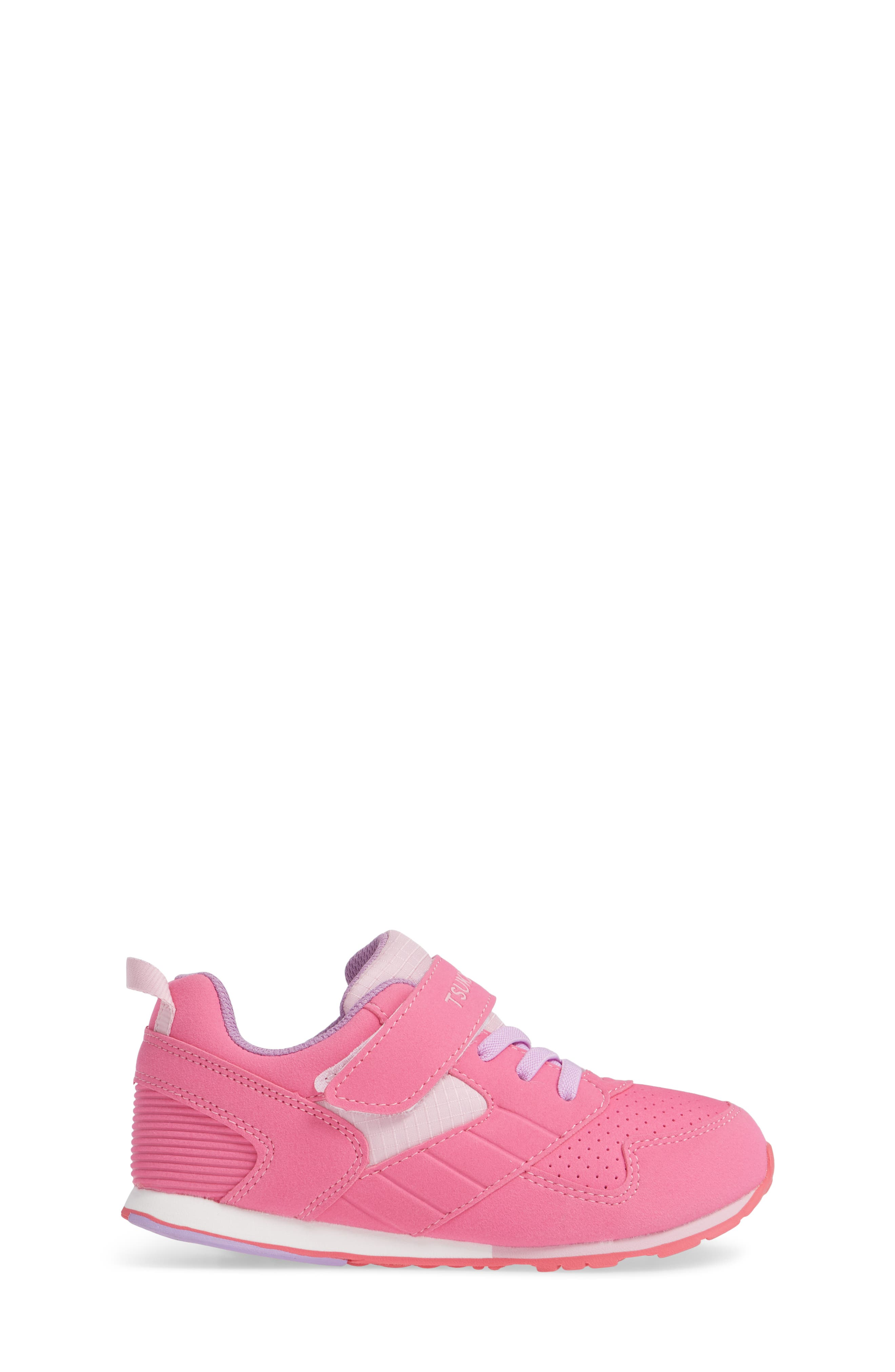 Racer Washable Sneaker,                             Alternate thumbnail 3, color,                             FUCHSIA/ PINK