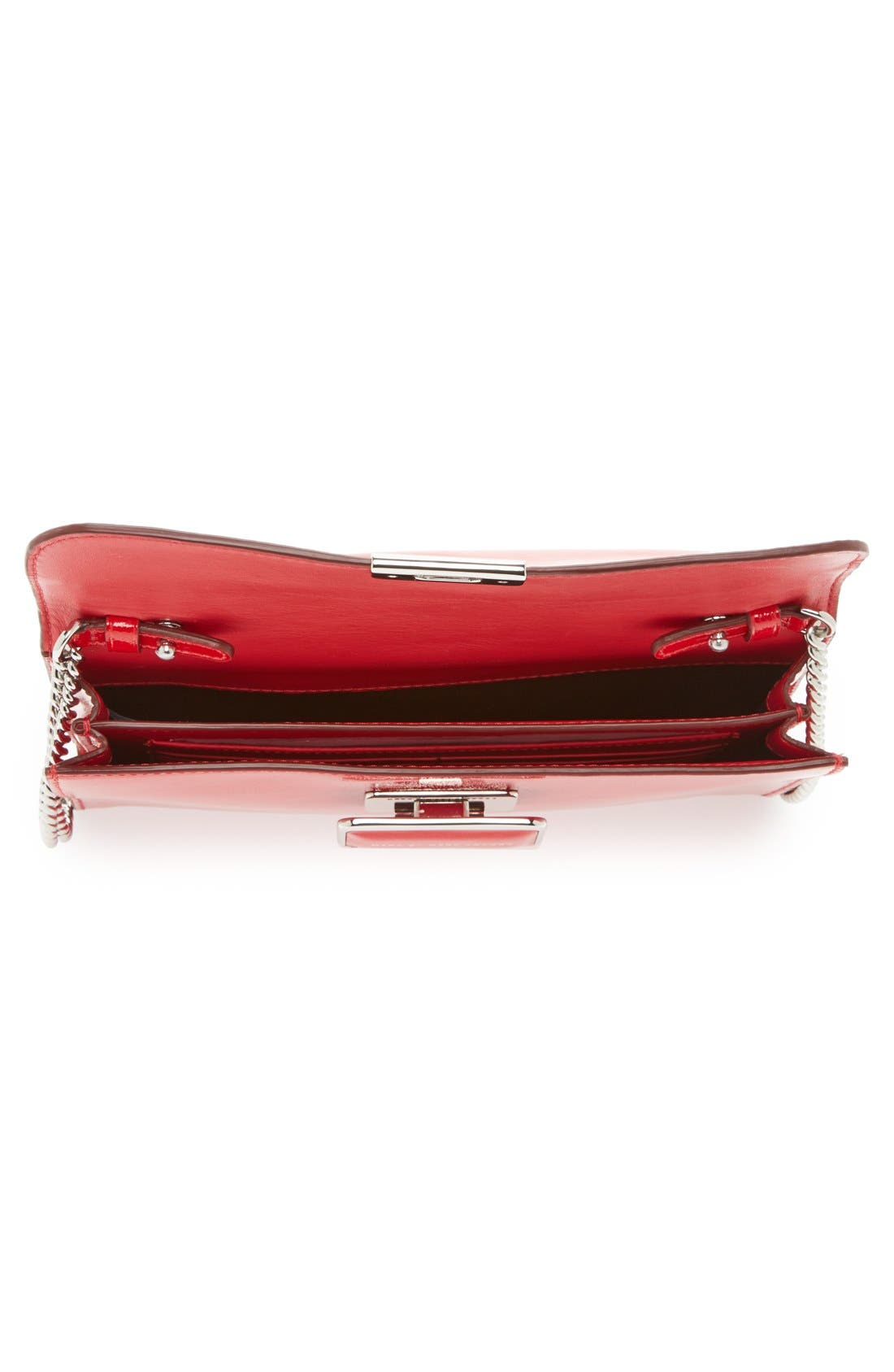 MARC BY MARC JACOBS 'Pegg' Patent Leather Clutch,                             Alternate thumbnail 2, color,                             600