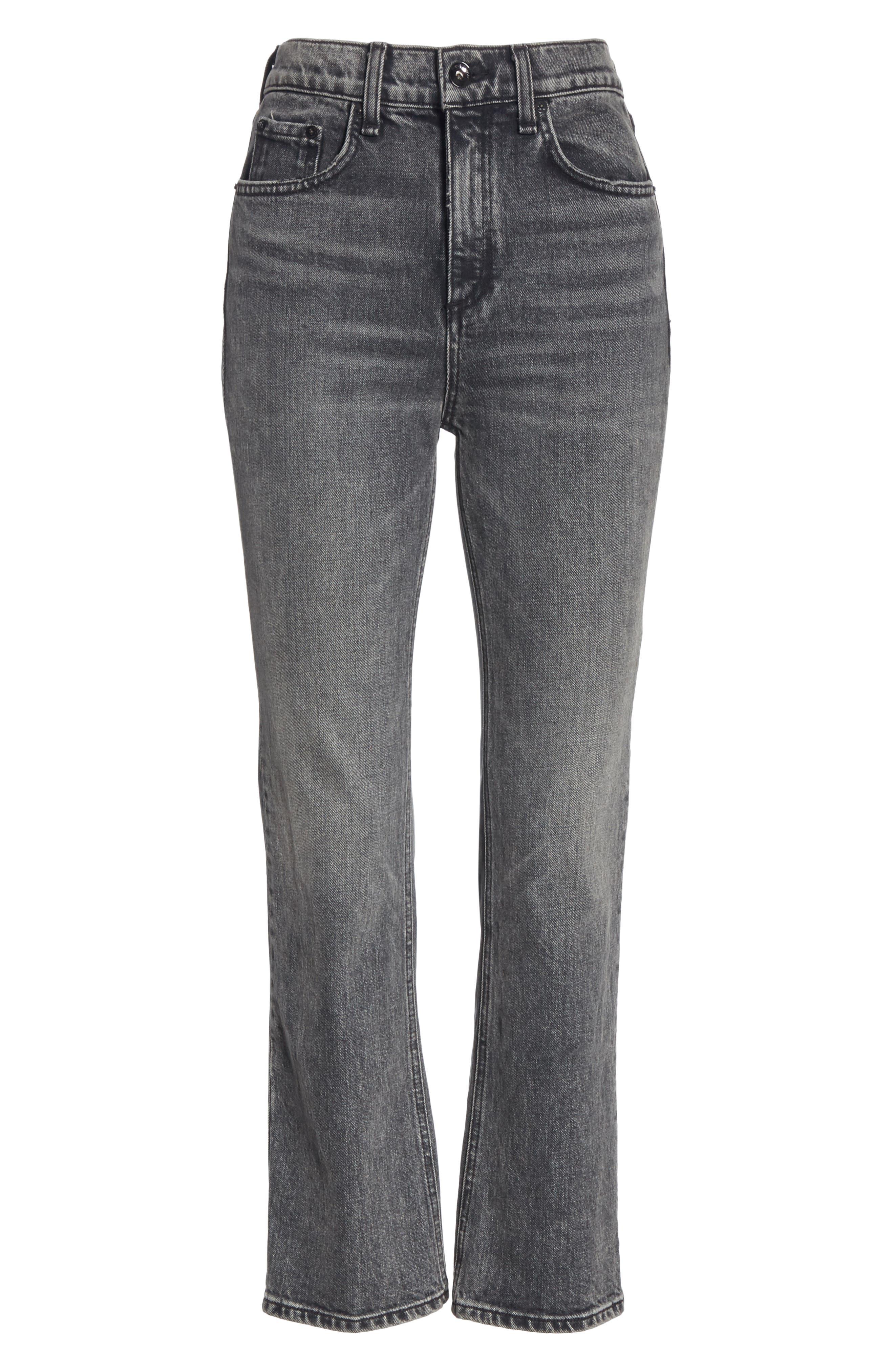 Hana Crop Kick Flare Jeans,                             Alternate thumbnail 7, color,                             010