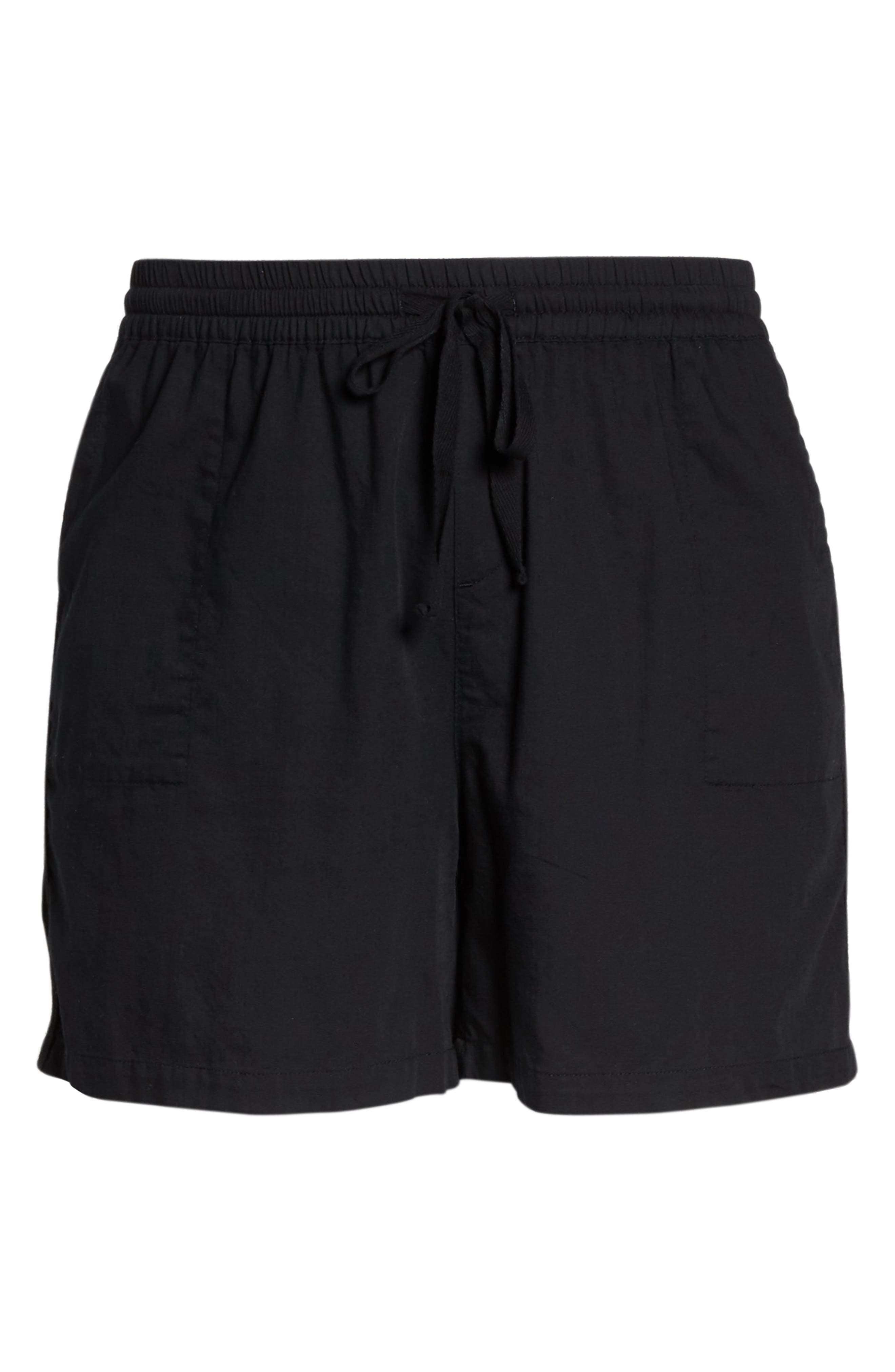 Pull-On Twill Shorts,                             Alternate thumbnail 7, color,                             001