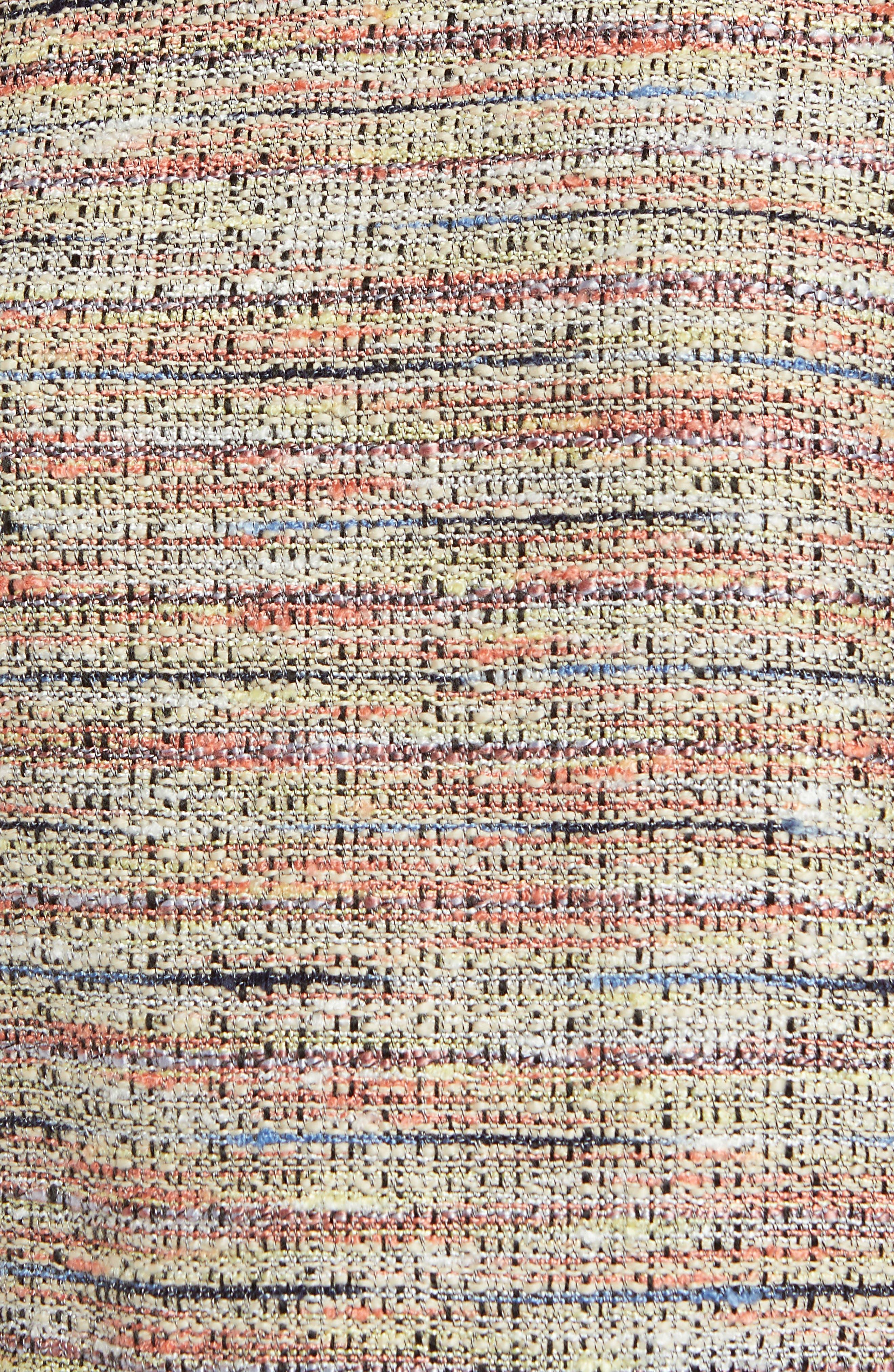 Poplin Ruffle Tweed Top,                             Alternate thumbnail 6, color,                             800