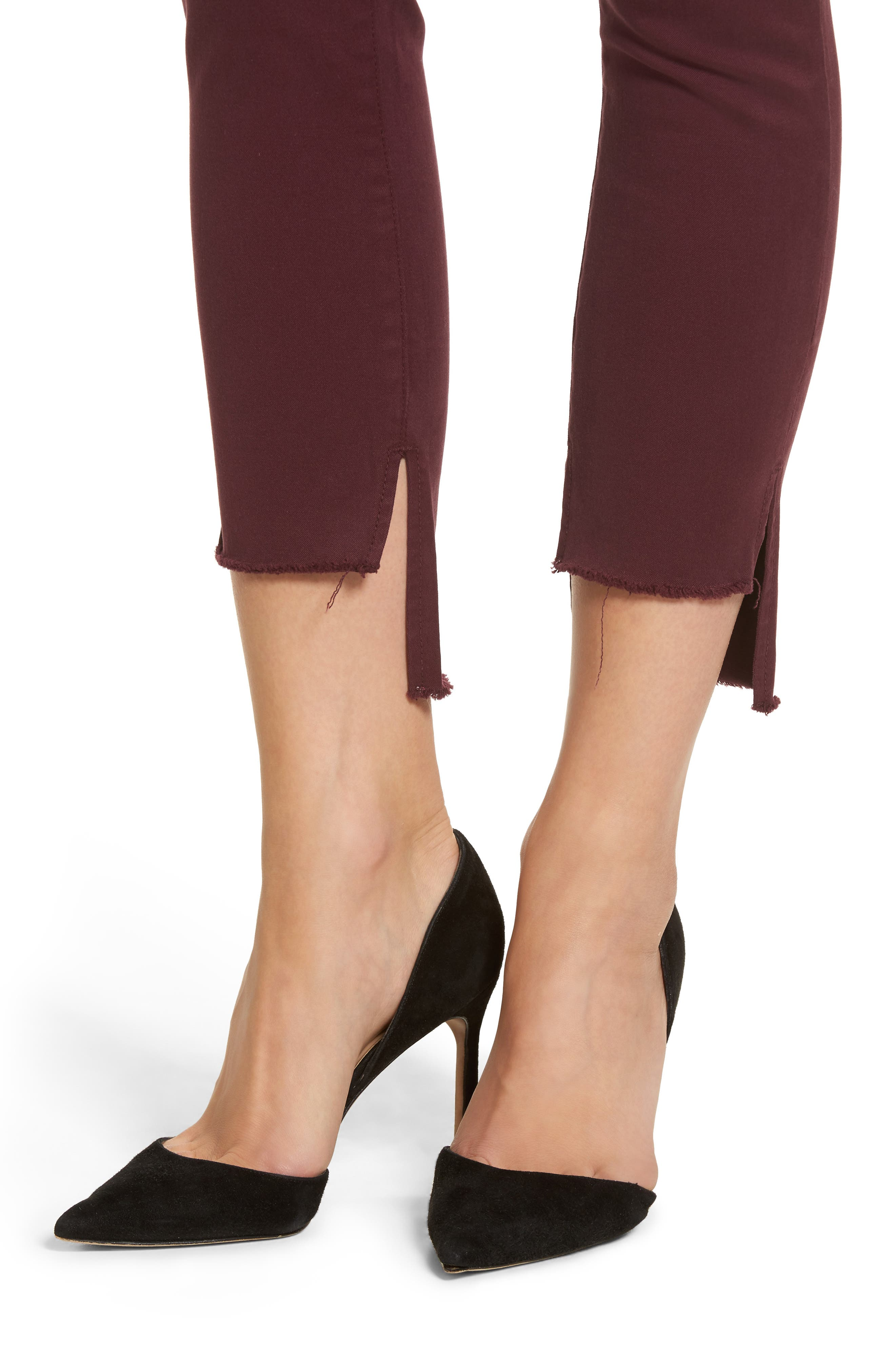 Chrissy Trimstone High Waist Step Hem Skinny Jeans,                             Alternate thumbnail 4, color,