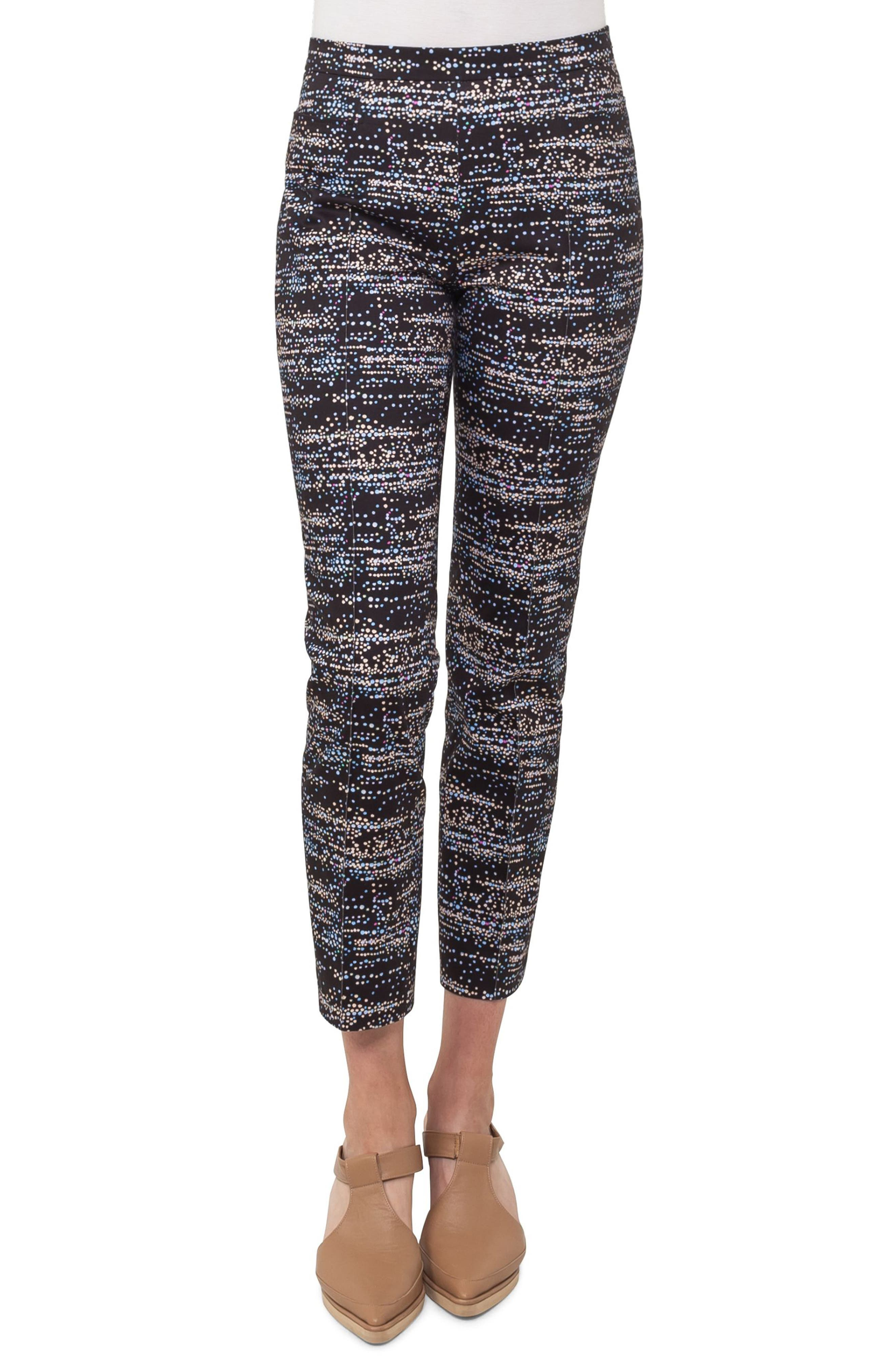 Franca Twilight City Print Ankle Pants,                             Main thumbnail 1, color,                             500
