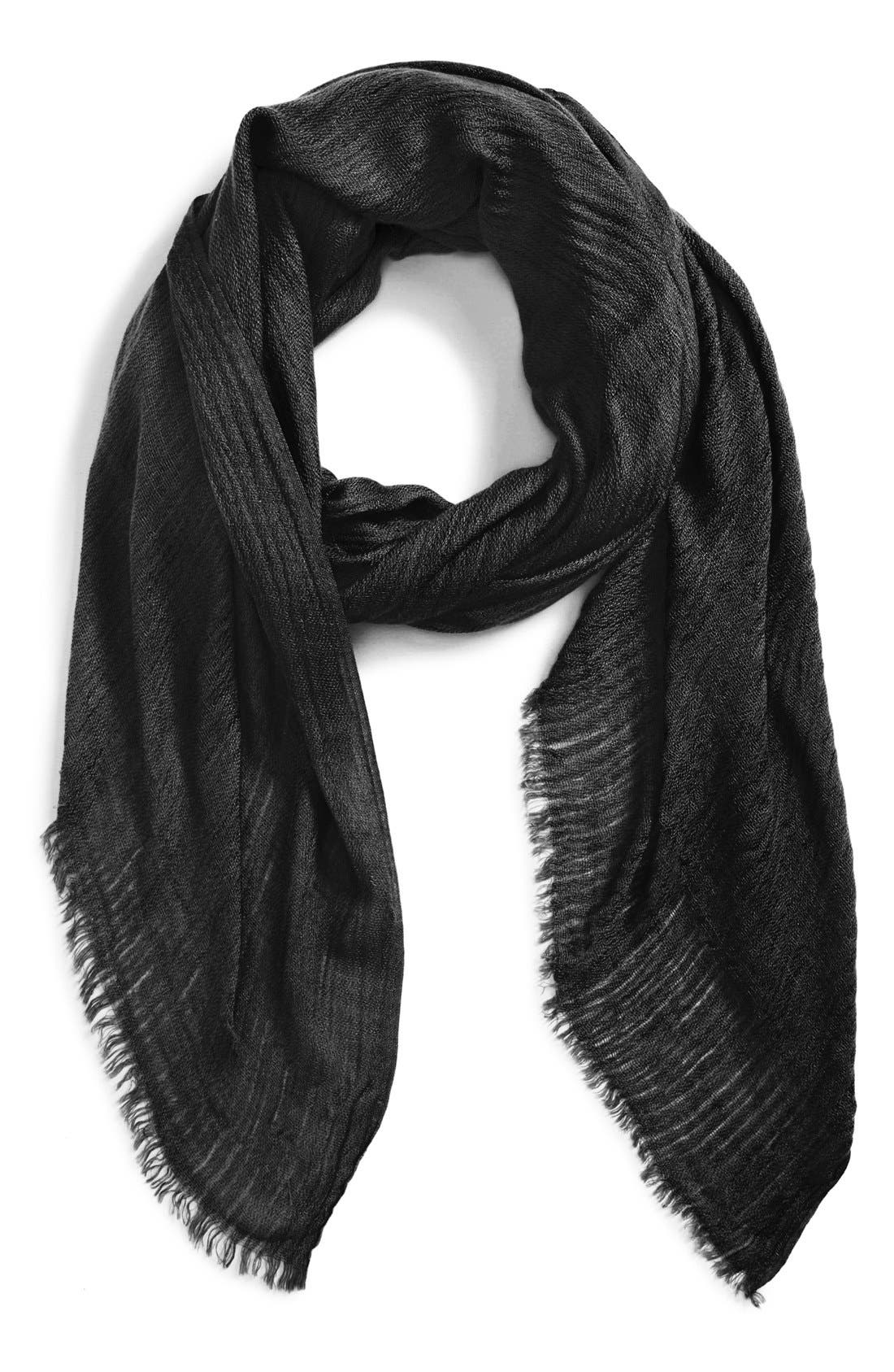 Fringe Scarf,                         Main,                         color, 001