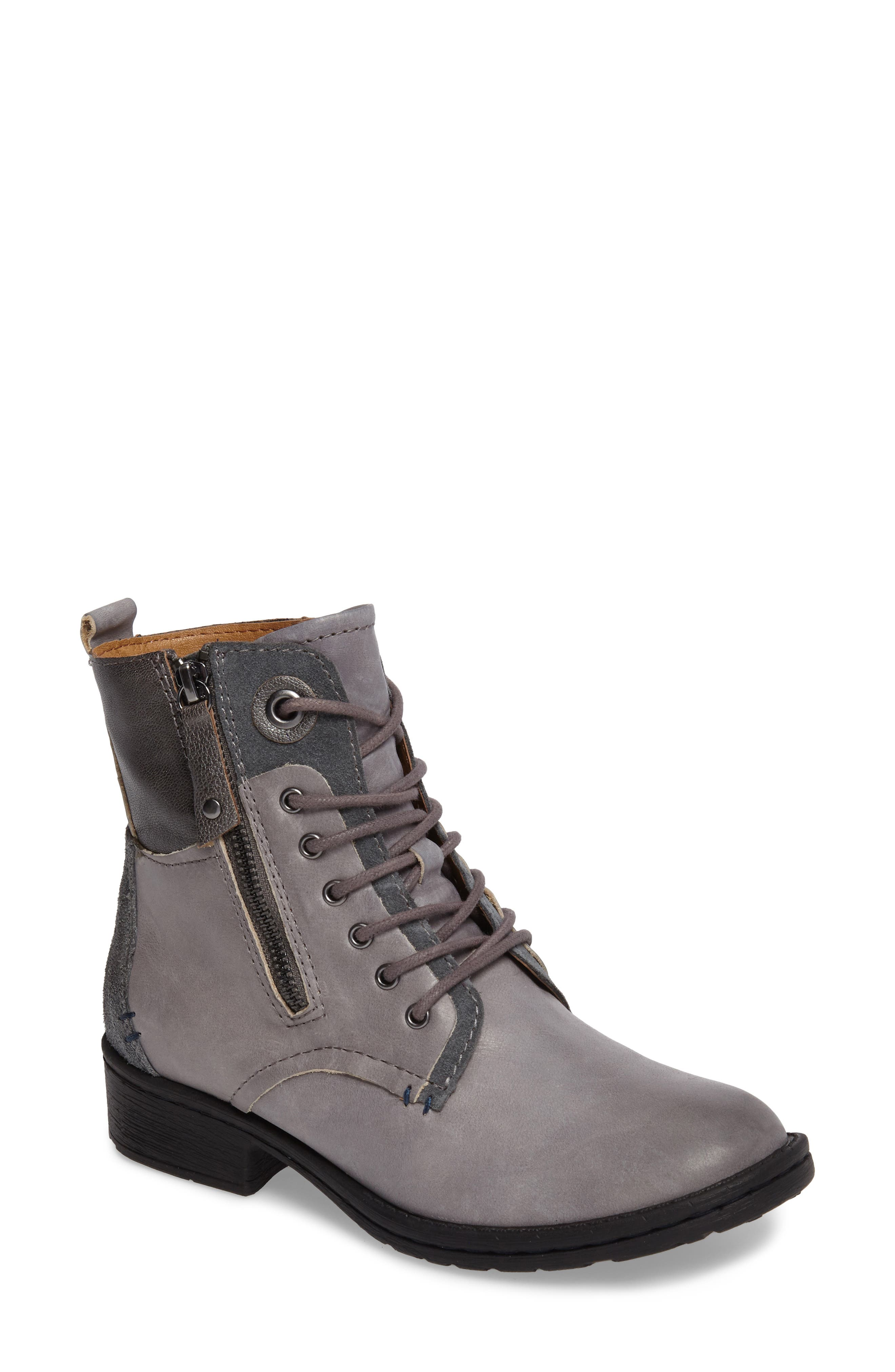 COMFORTIVA Sarango Lace-Up Boot, Main, color, GREY LEATHER