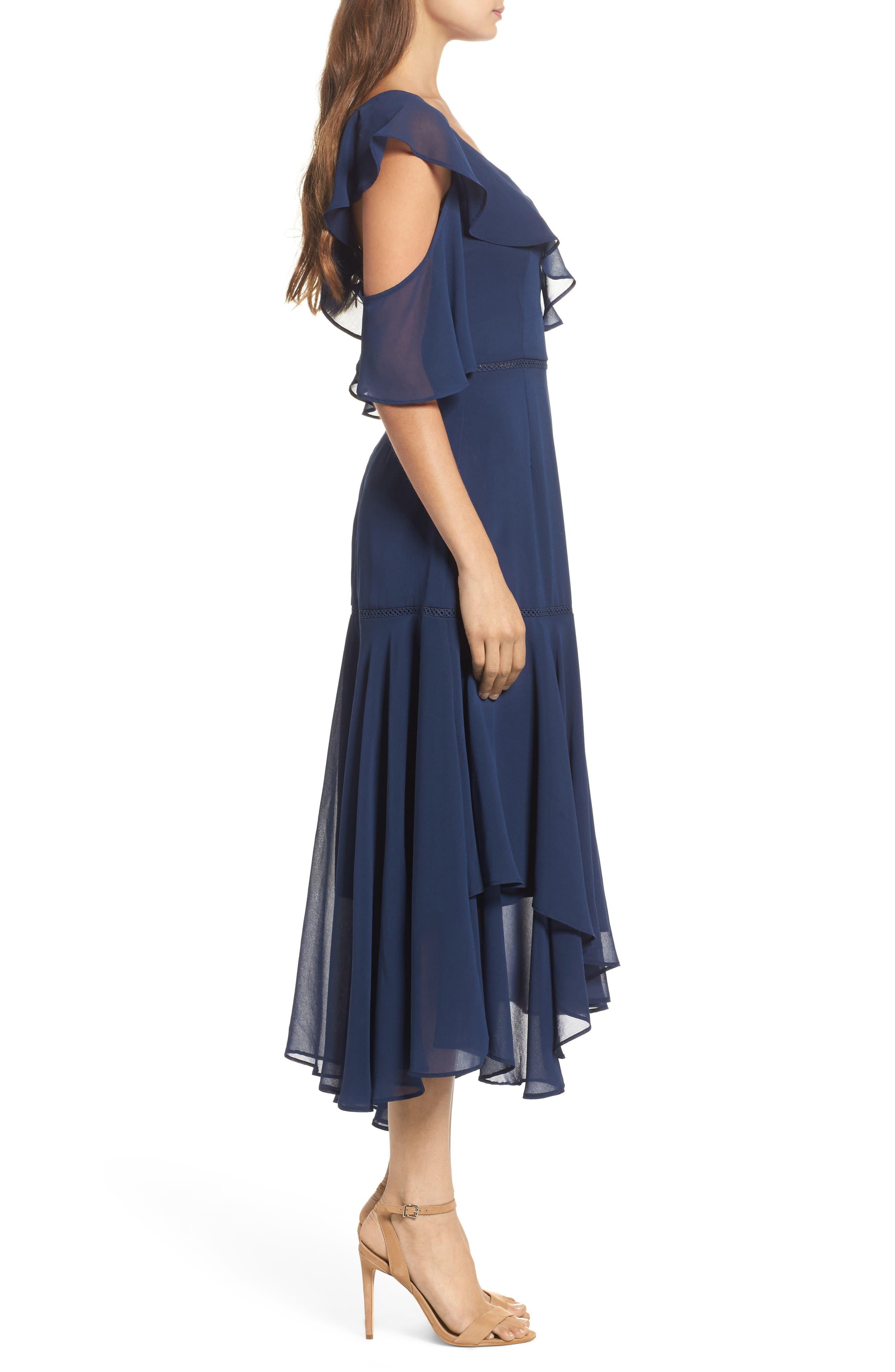 Utopia Cold Shoulder Midi Dress,                             Alternate thumbnail 3, color,                             435
