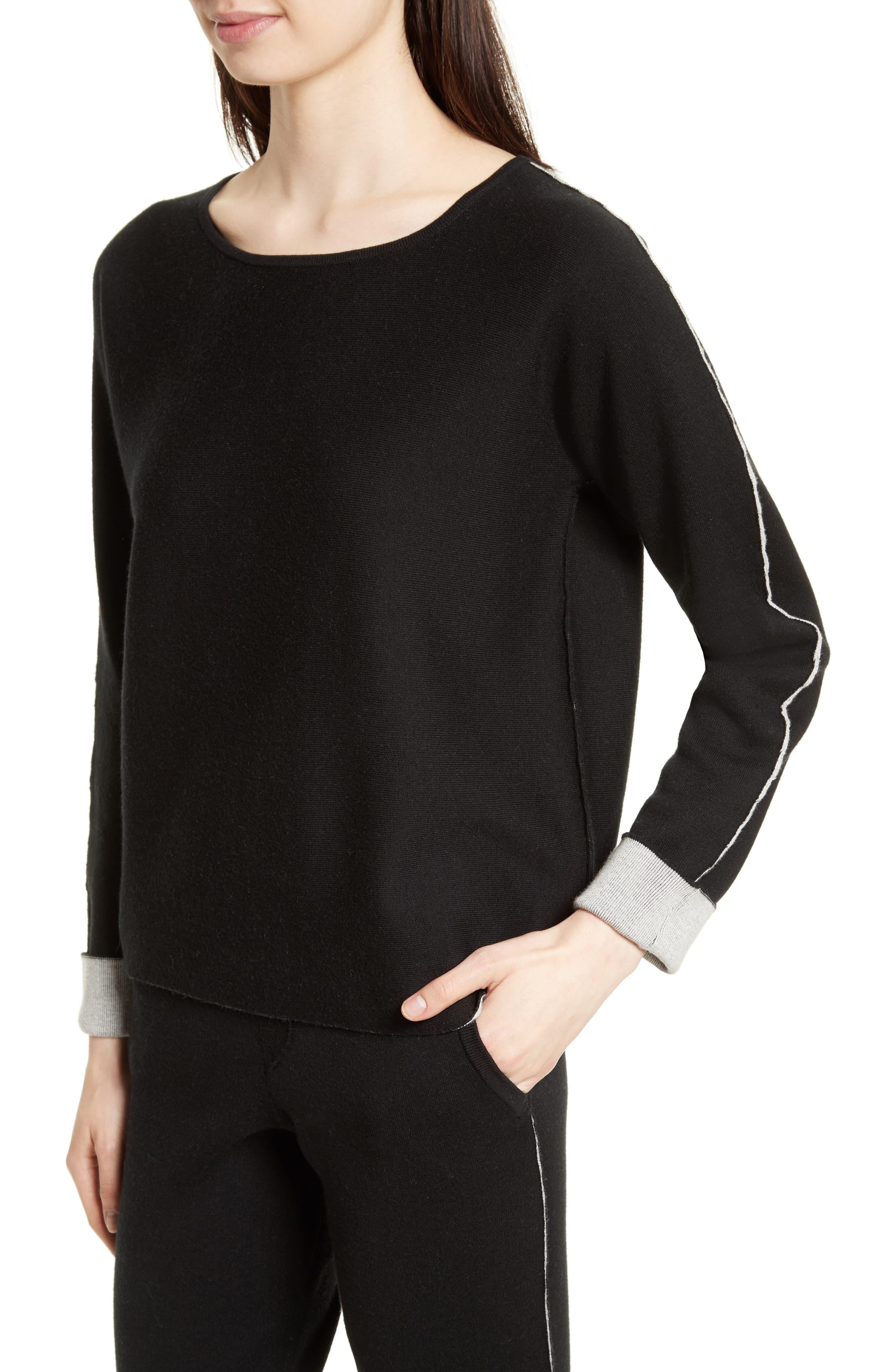 Cotton Blend Sweater,                             Alternate thumbnail 4, color,                             007