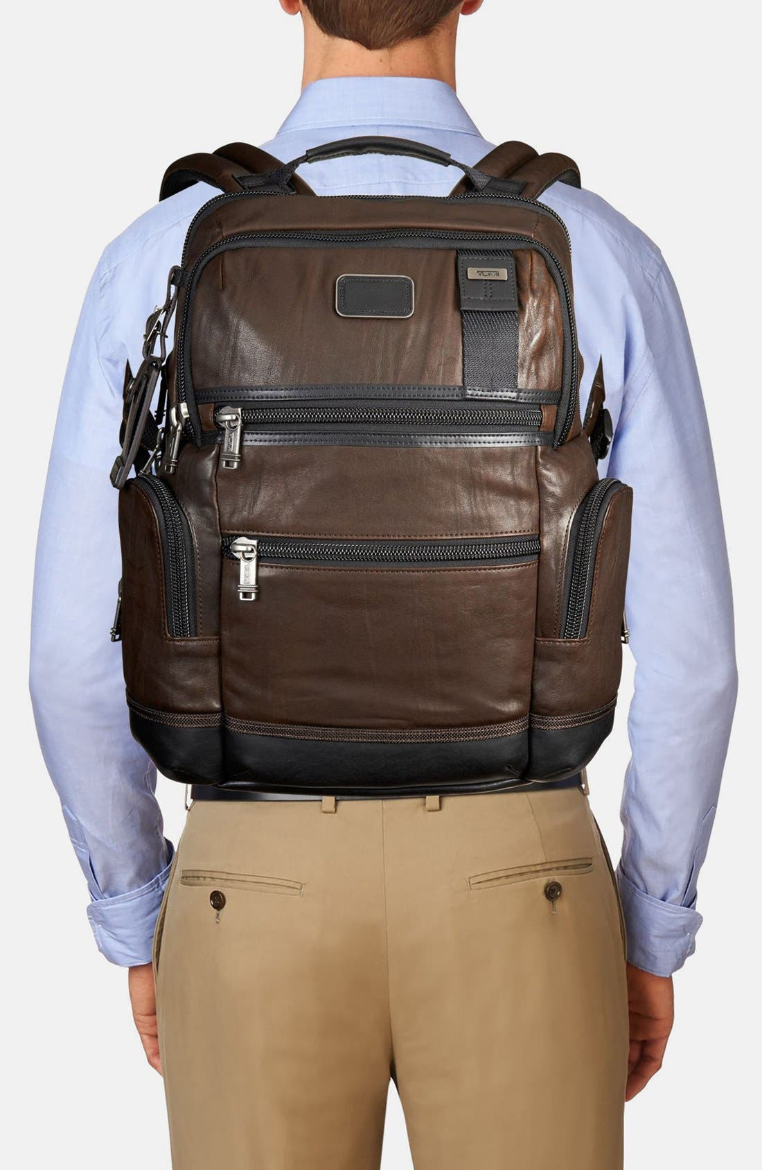 'Bravo - Knox' Leather Backpack,                             Alternate thumbnail 4, color,                             204
