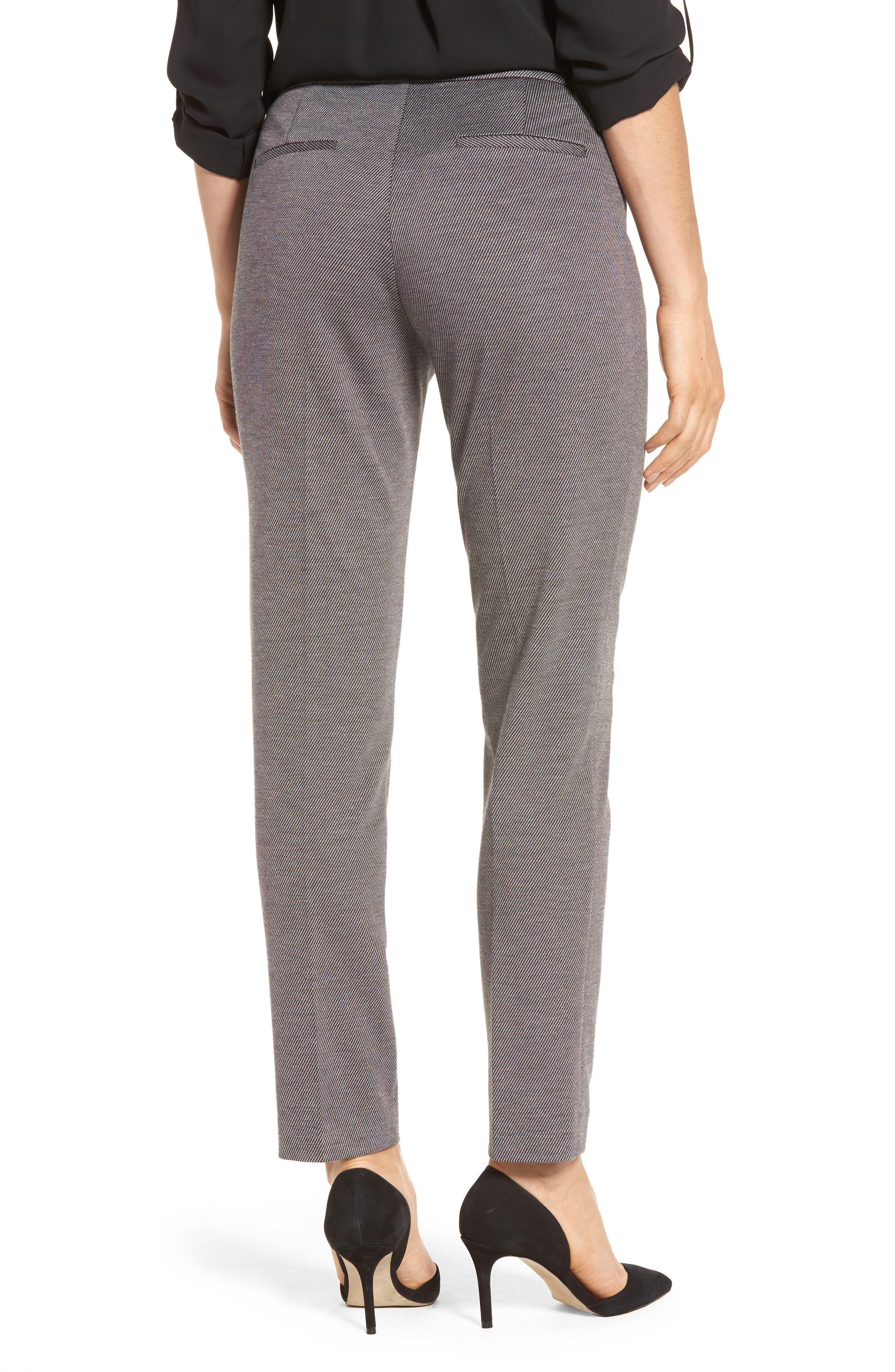 Slim Twill Ponte Knit Pants,                             Alternate thumbnail 2, color,                             020