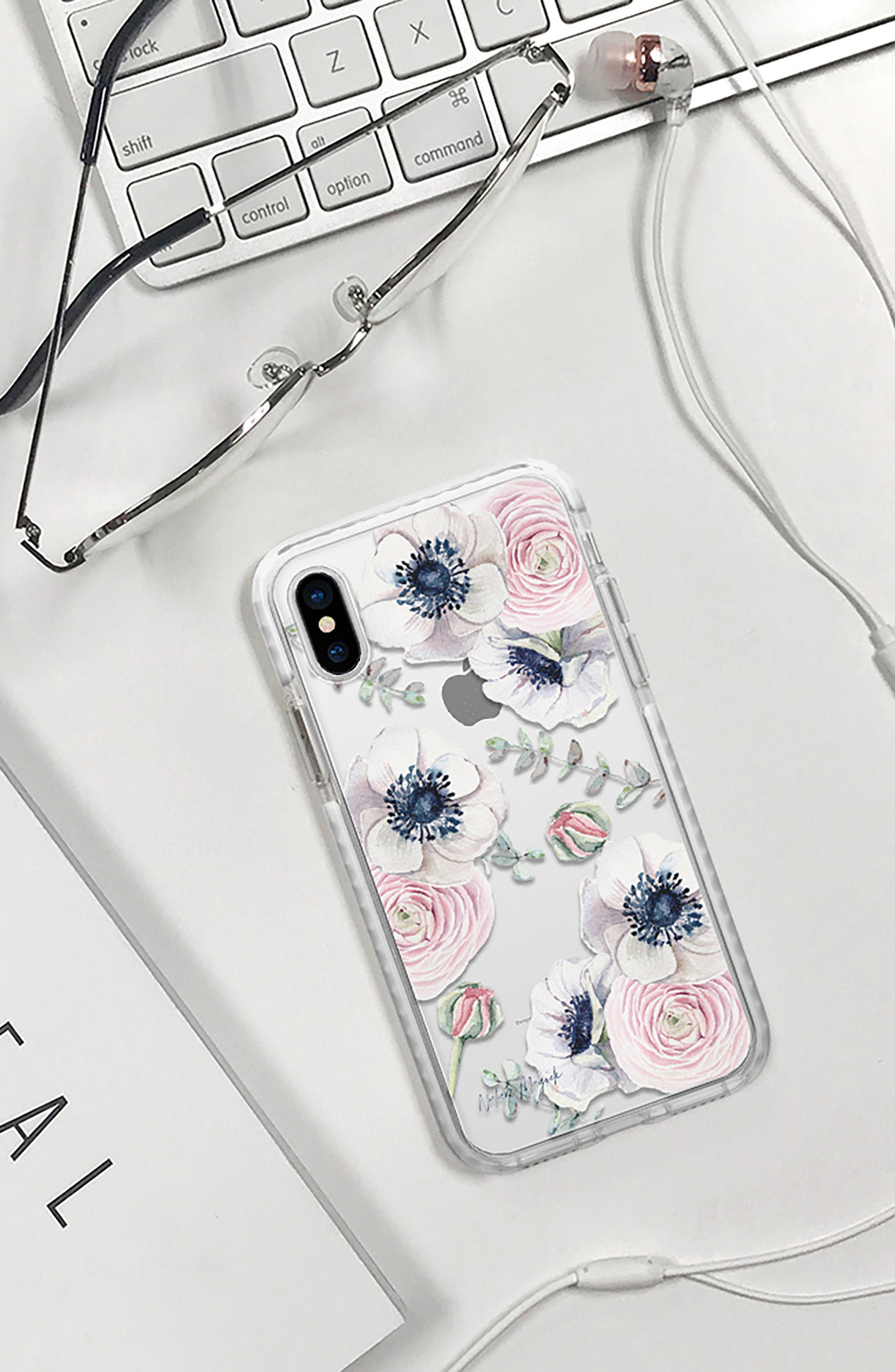 Blossom Love iPhone X & Xs Case,                             Alternate thumbnail 6, color,