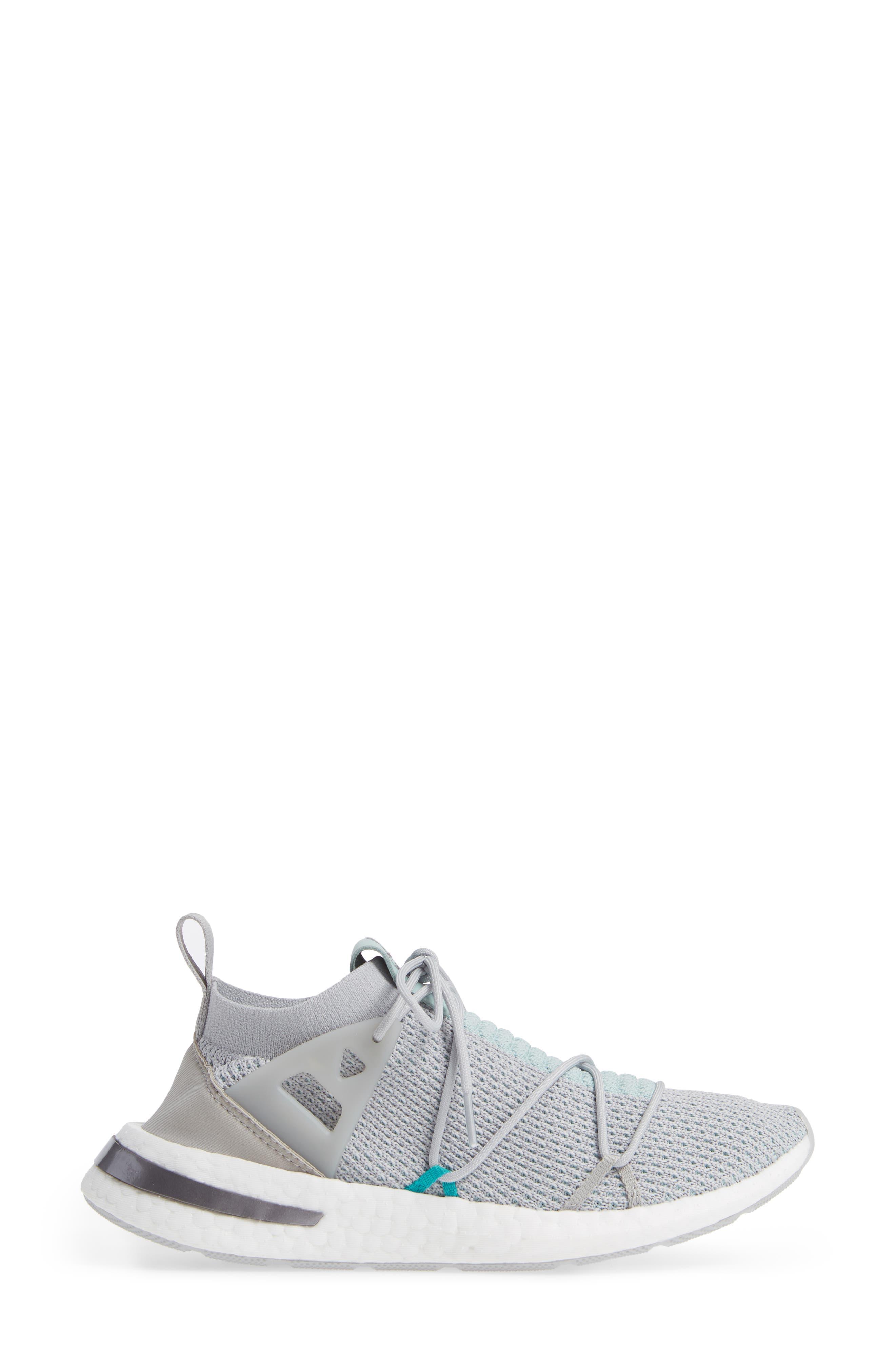 Arkyn Primeknit Sneaker,                             Alternate thumbnail 3, color,                             GREY TWO/ GREY TWO/ ASH GREEN