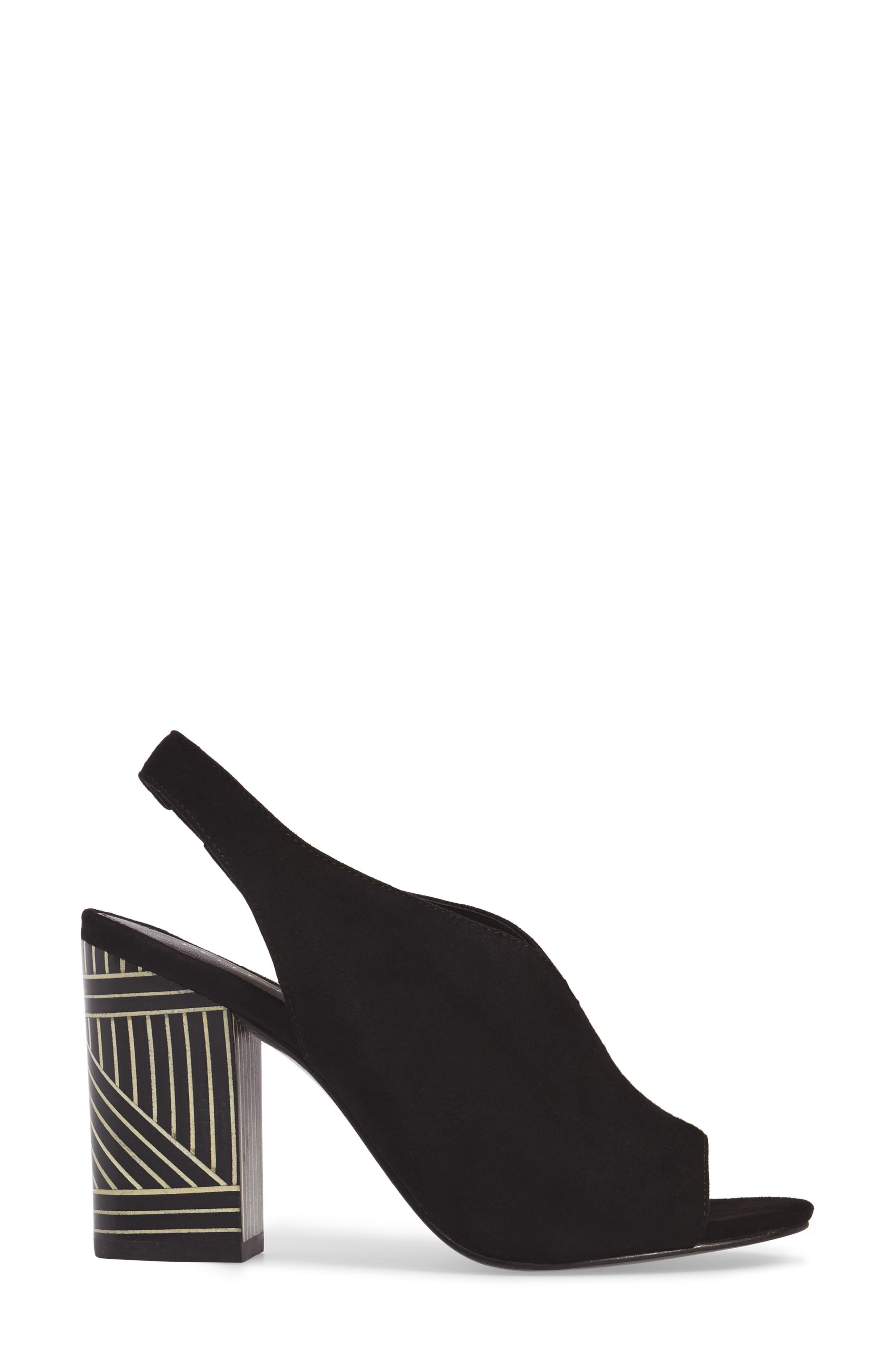 Madra Slingback Sandal,                             Alternate thumbnail 3, color,                             001