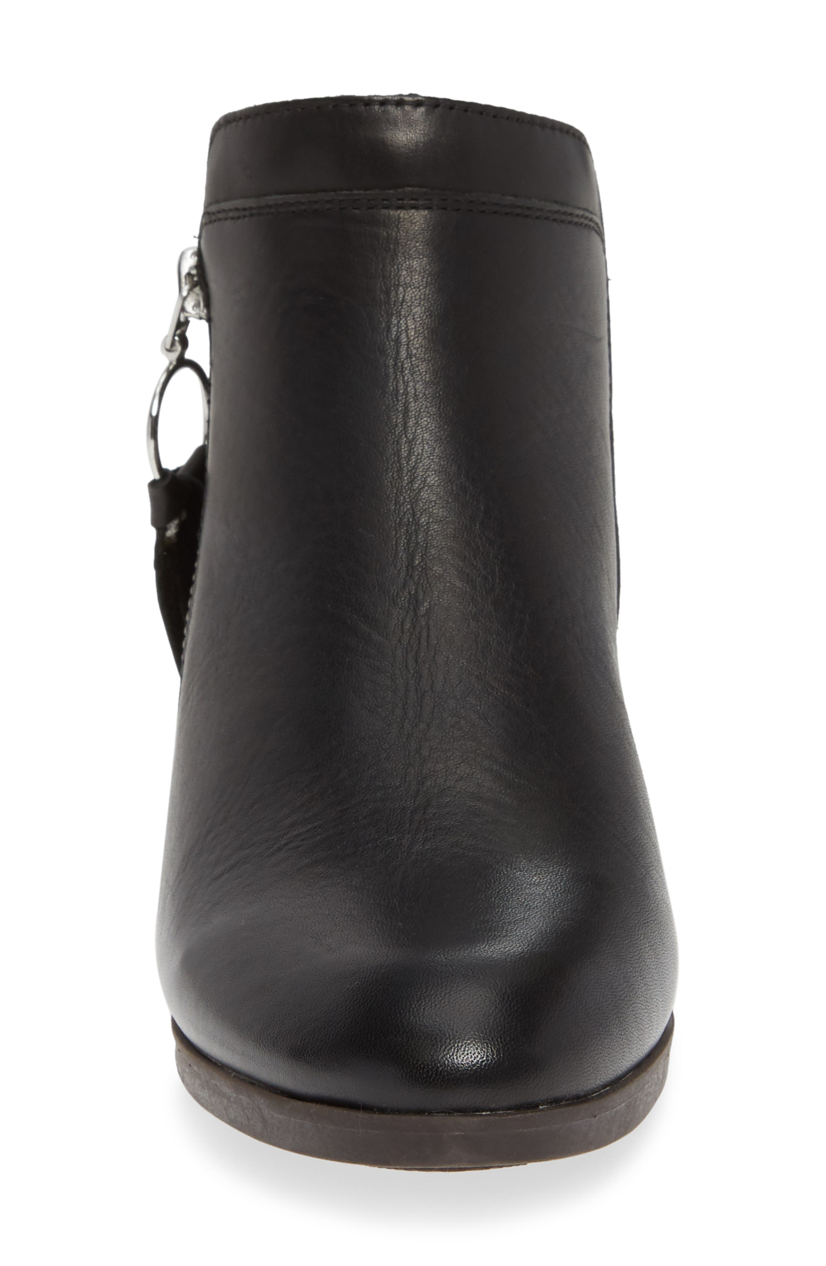 Daroca Bootie,                             Alternate thumbnail 4, color,                             BLACK LEATHER
