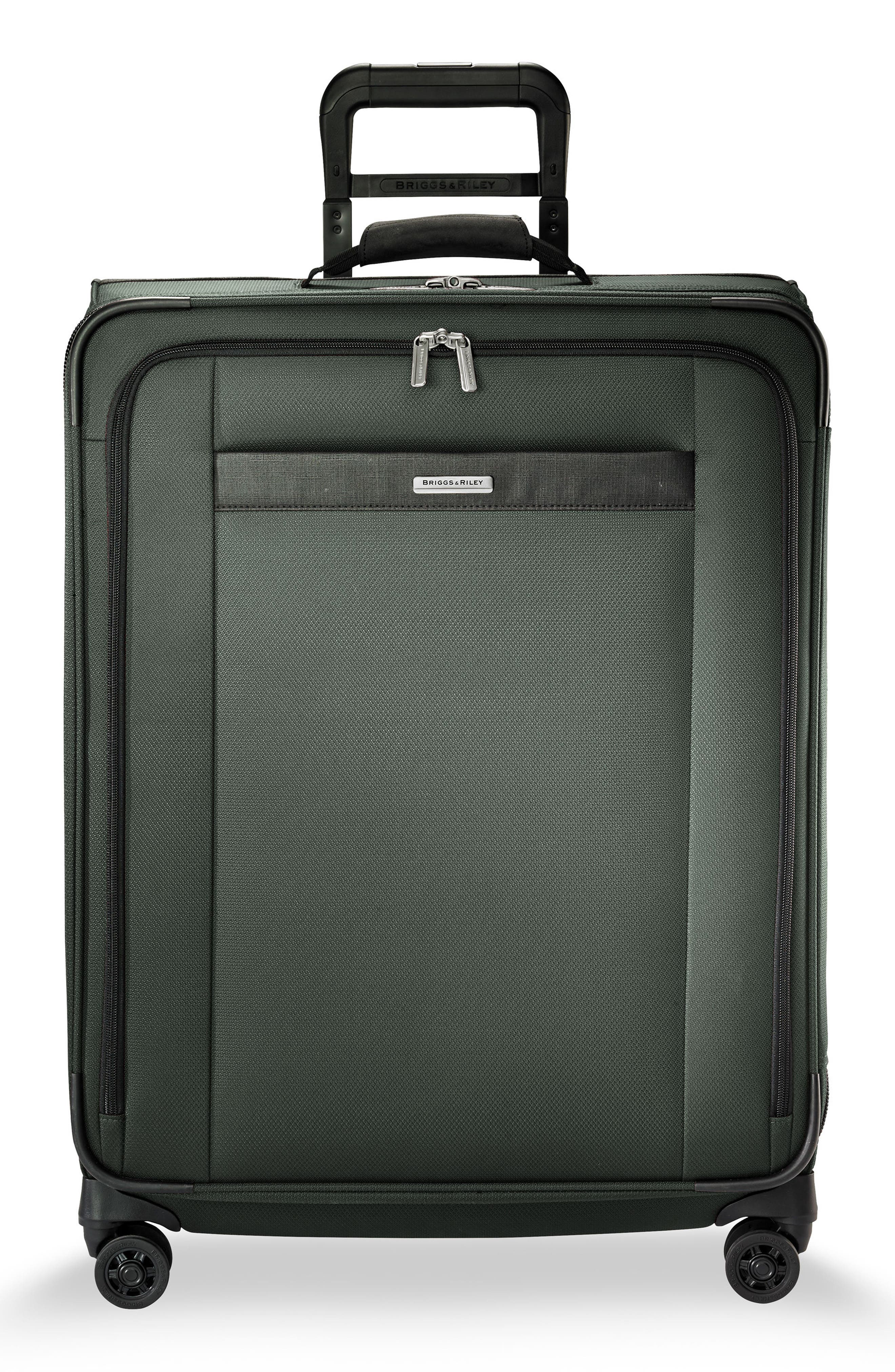 BRIGGS & RILEY Transcend VX Medium Expandable 26-Inch Spinner Suitcase, Main, color, RAINFOREST GREEN