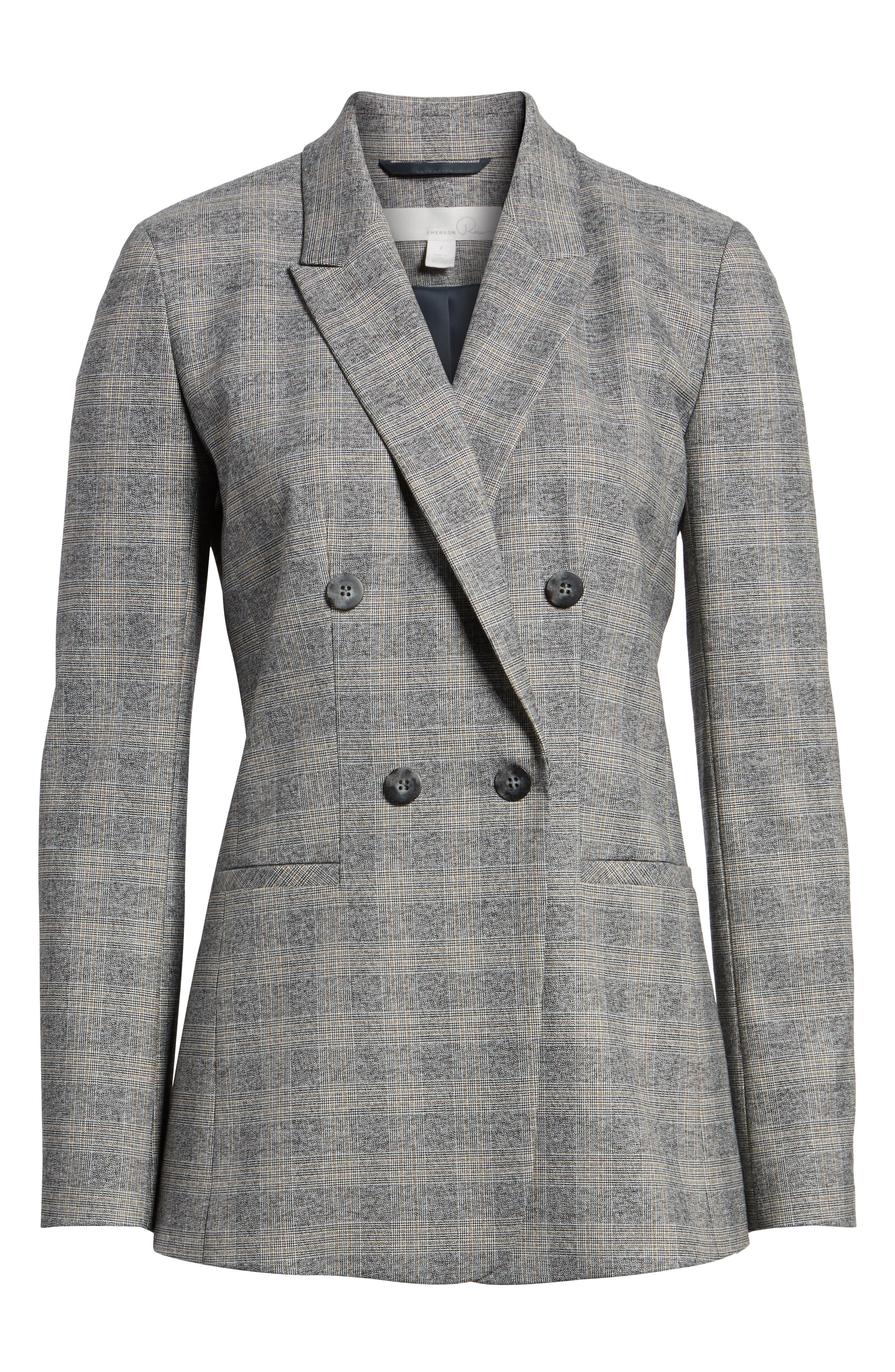 Check Plaid Suit Jacket,                             Alternate thumbnail 5, color,                             030