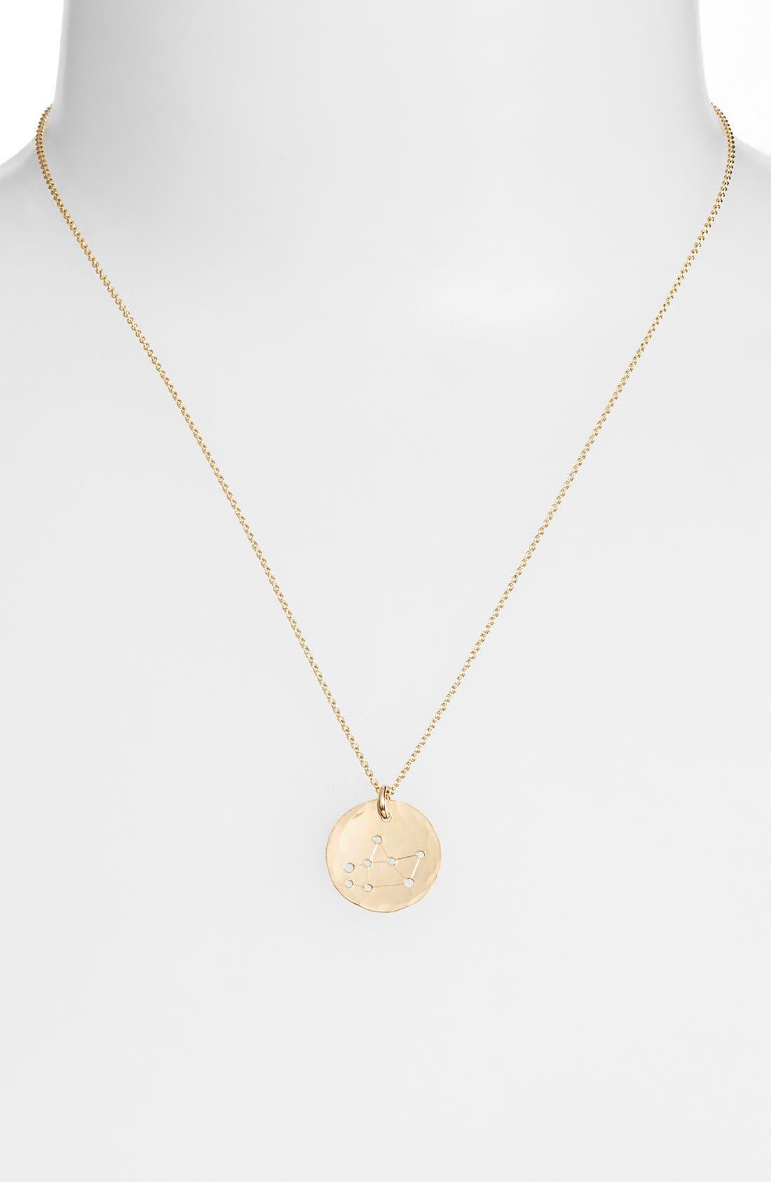 Ija 'Small Zodiac' 14k-Gold Fill Necklace,                             Alternate thumbnail 21, color,