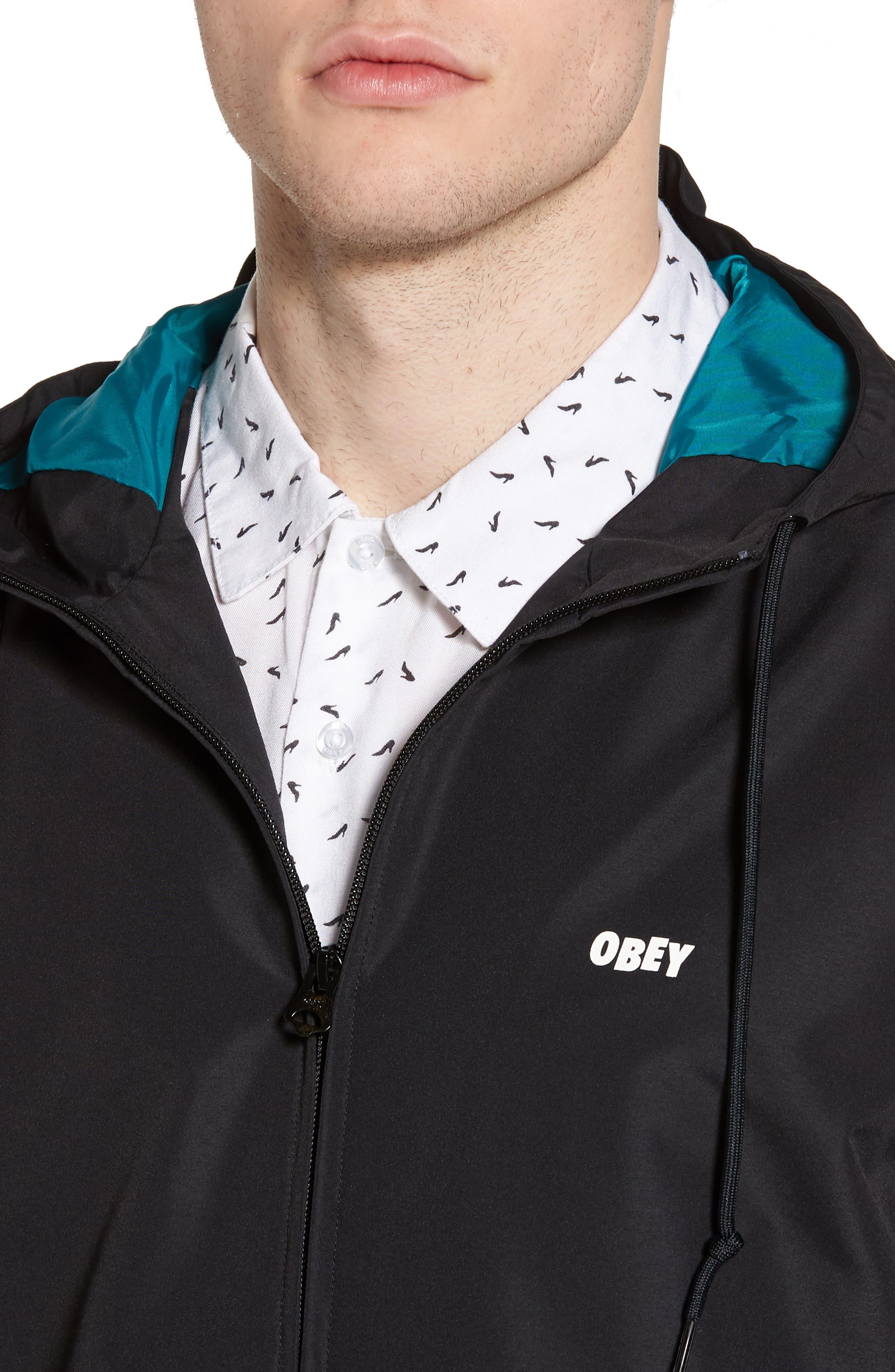 Ambush Hooded Jacket,                             Alternate thumbnail 4, color,                             001