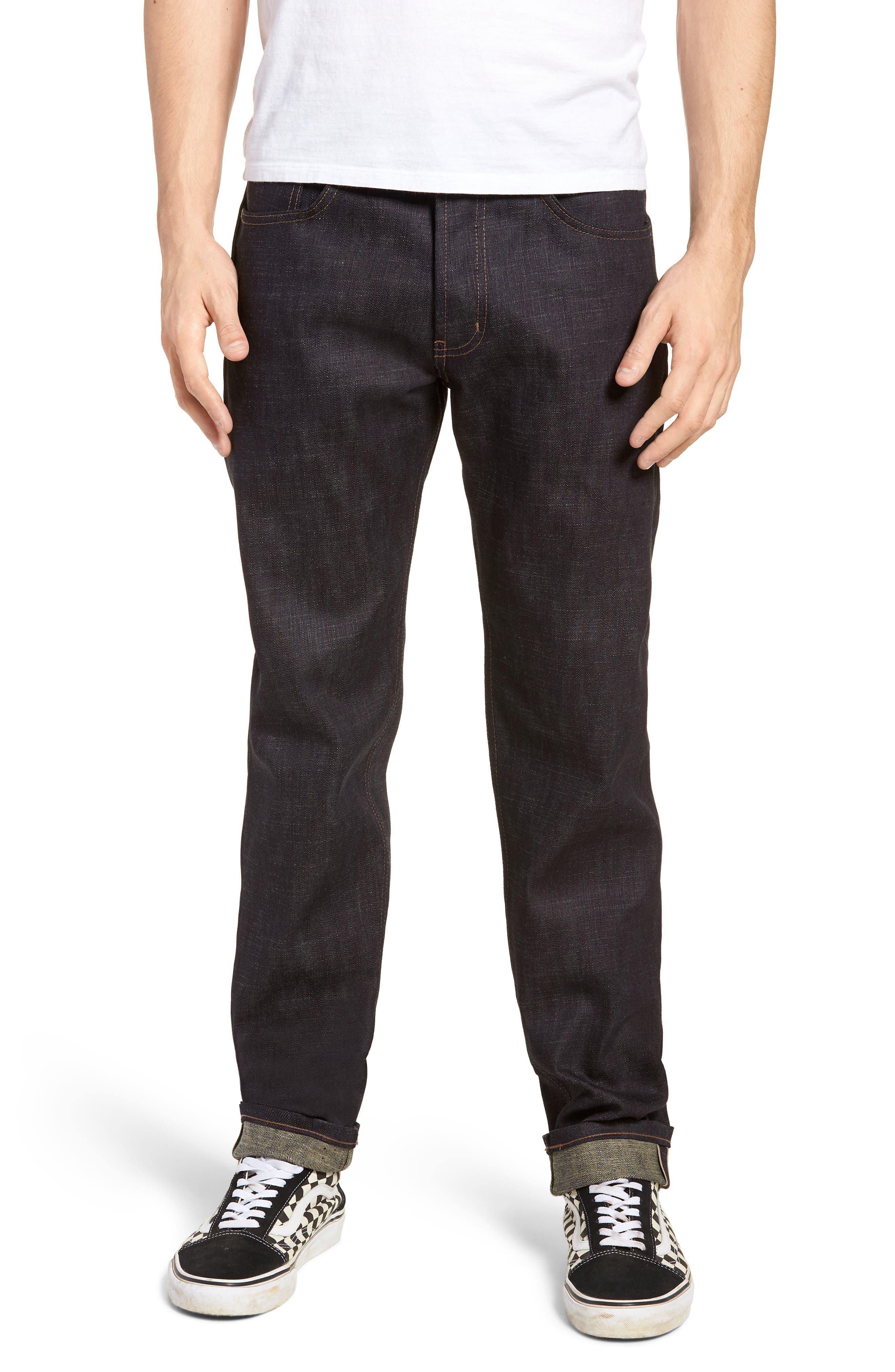 Easy Guy Slouchy Skinny Fit Jeans,                             Main thumbnail 1, color,                             401