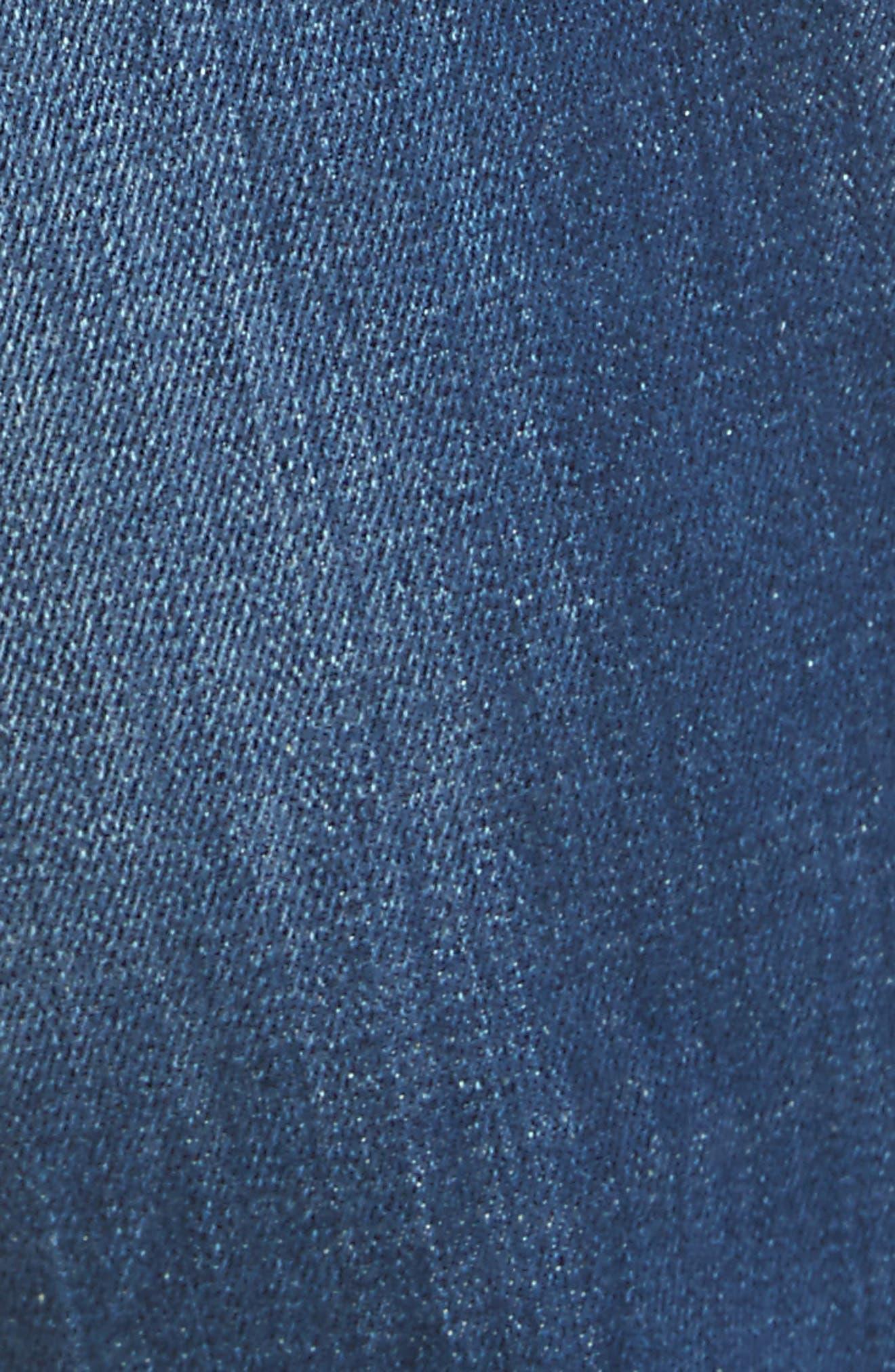 Slim Fit Medium Wash Jeans,                             Alternate thumbnail 5, color,                             414