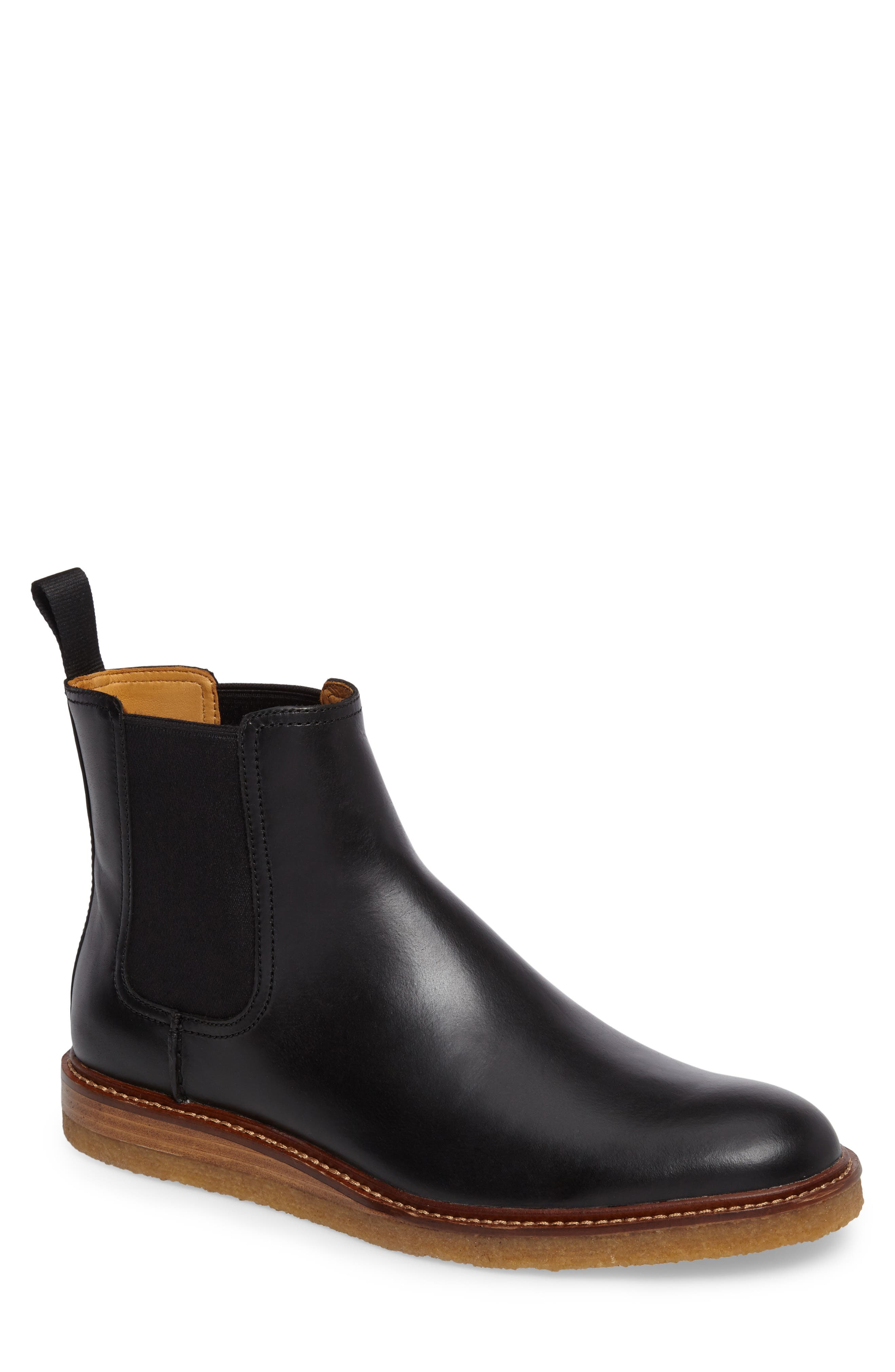 Leather Chelsea Boot,                             Main thumbnail 1, color,                             001