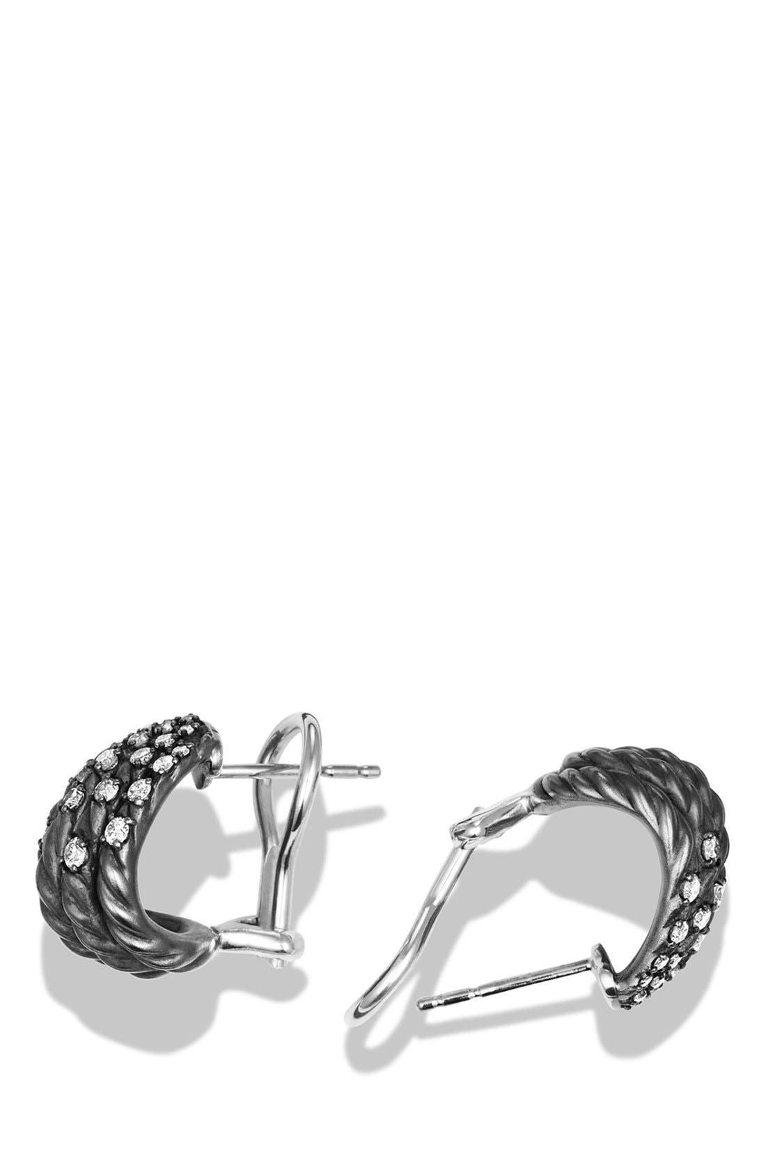 'Tempo' Earrings with Diamonds,                             Alternate thumbnail 2, color,                             DIAMOND