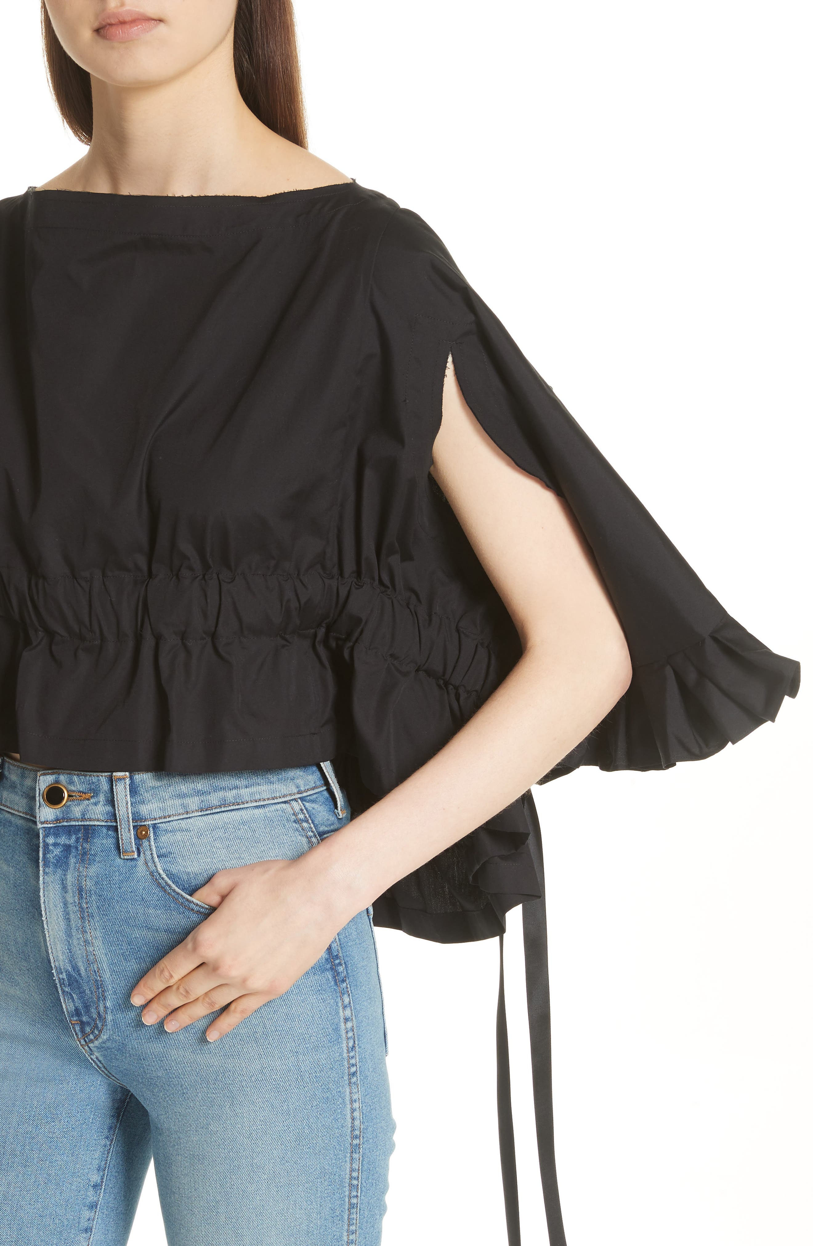 Crop Ruffle Top,                             Alternate thumbnail 7, color,