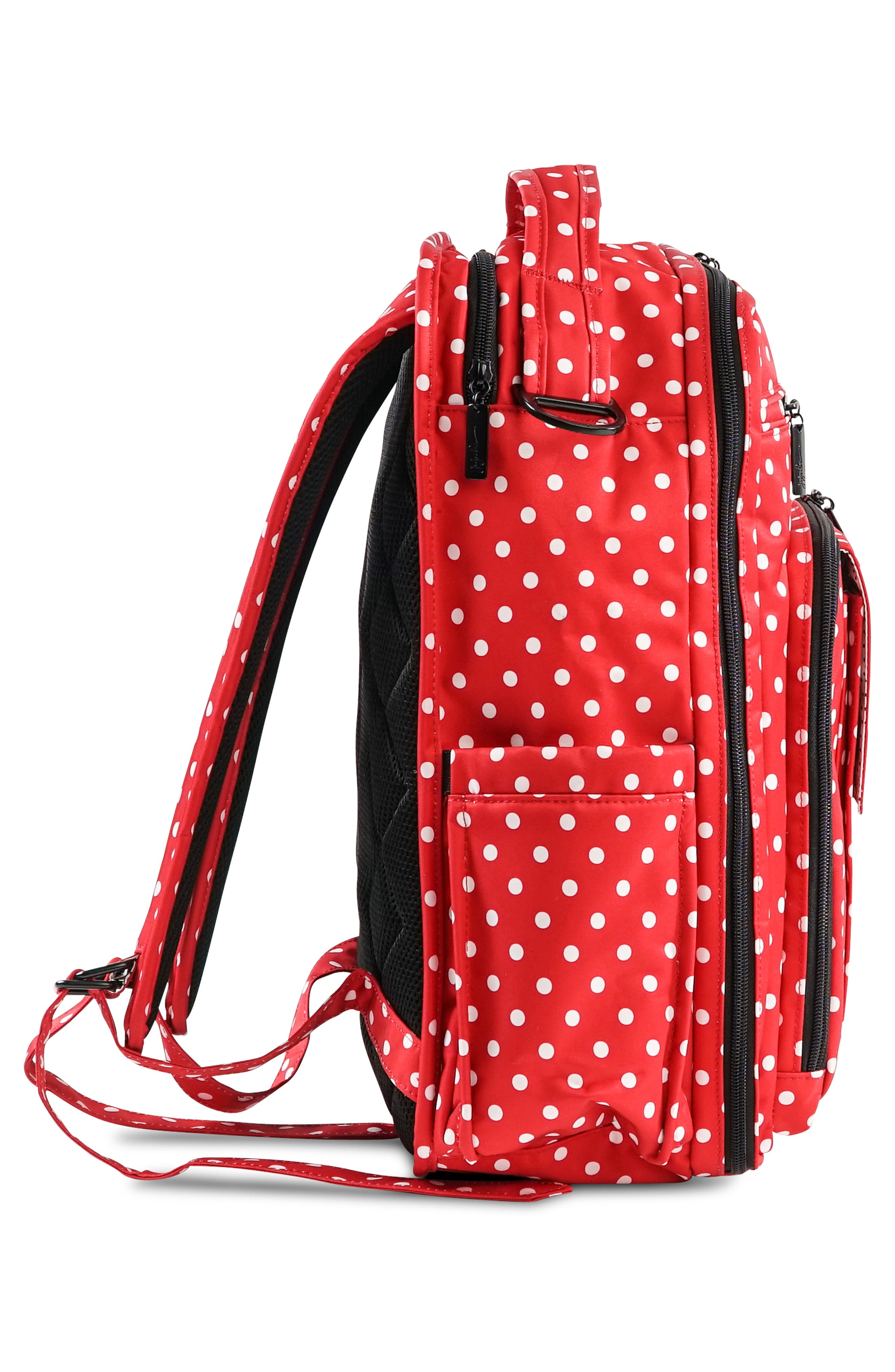 'Be Right Back - Onyx Collection' Diaper Backpack,                             Alternate thumbnail 3, color,                             BLACK RUBY