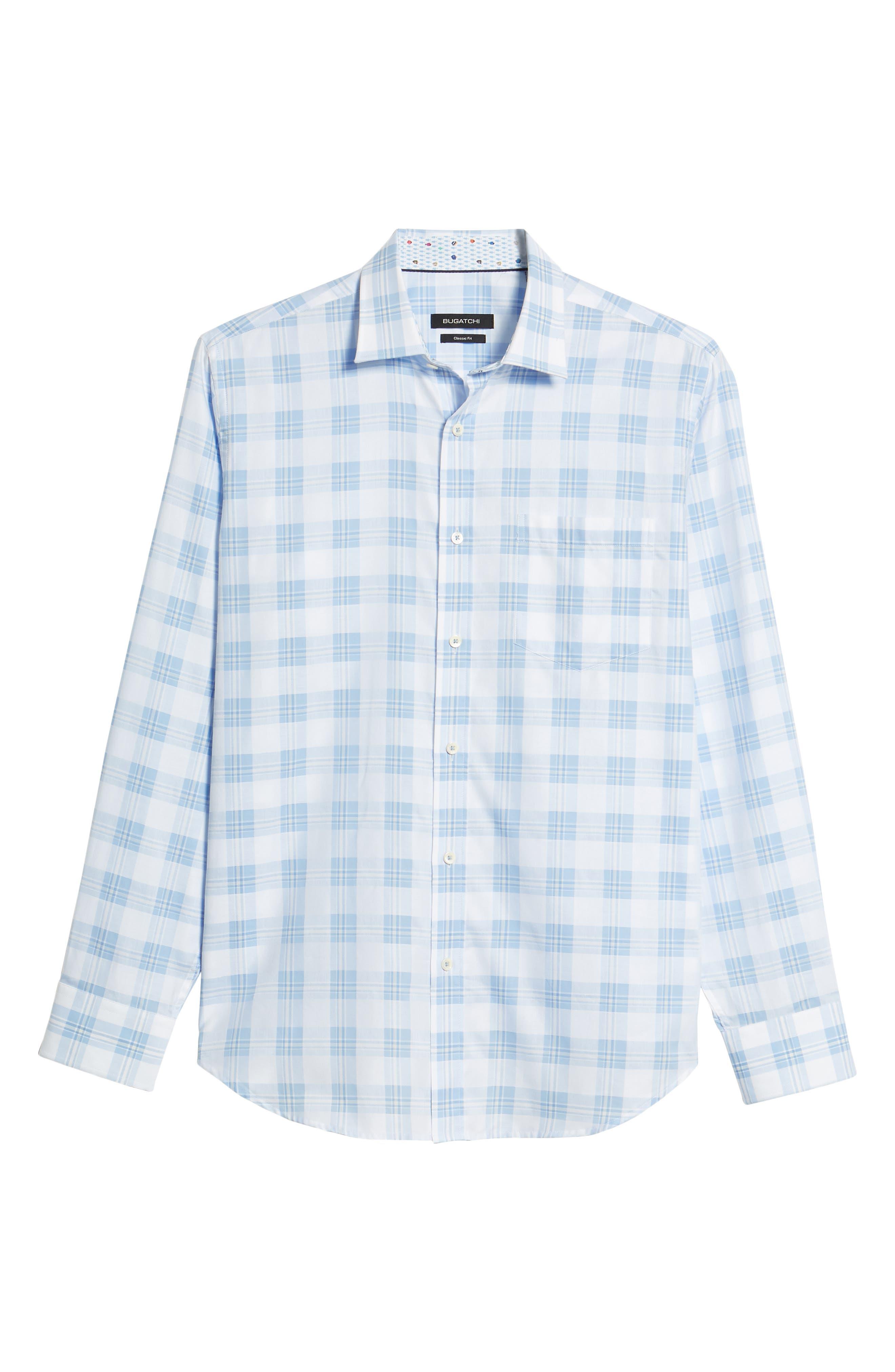 Classic Fit Tartan Sport Shirt,                             Alternate thumbnail 6, color,