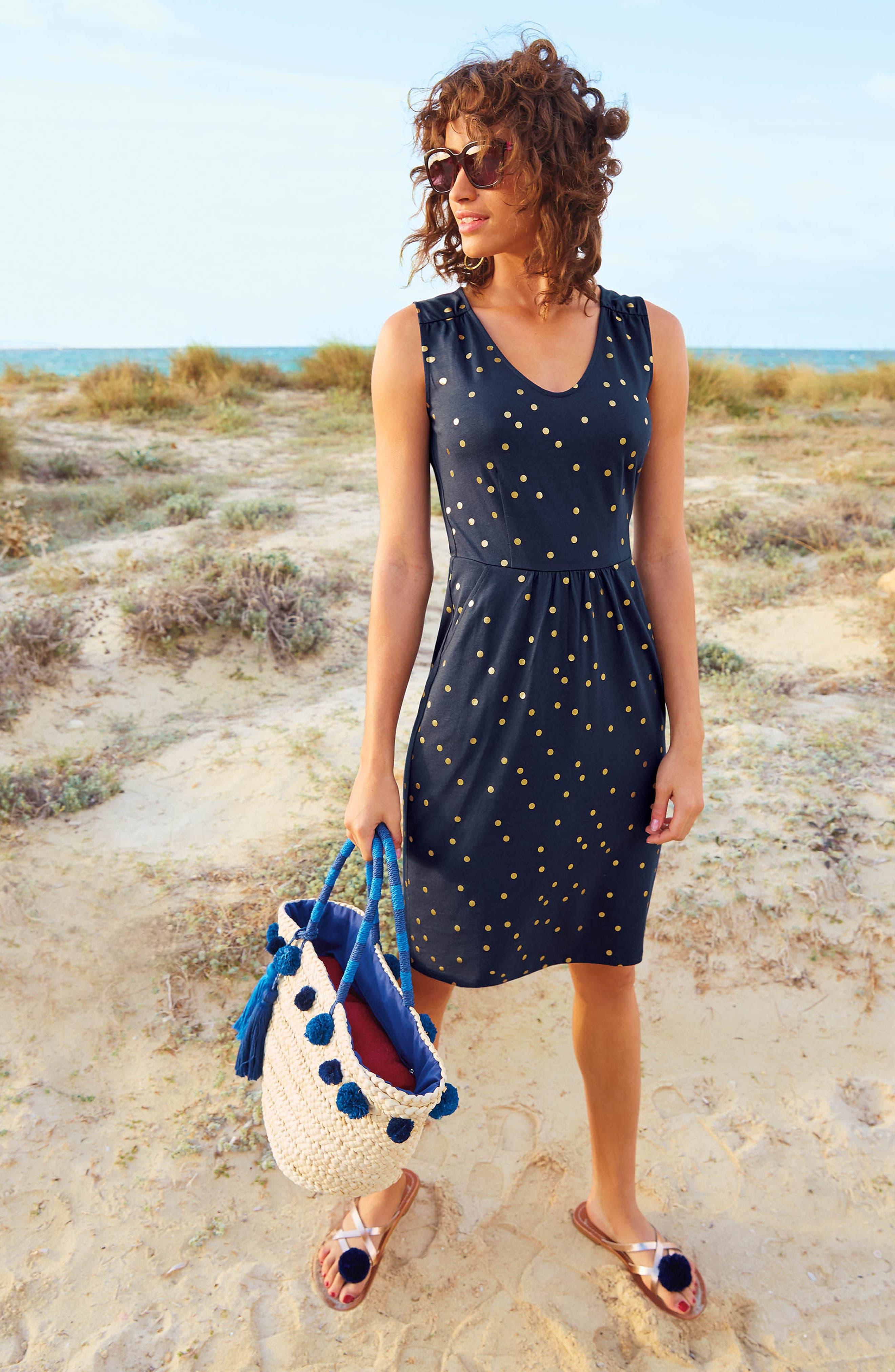 Melinda Metallic Dot Jersey Sheath Dress,                             Alternate thumbnail 5, color,                             414